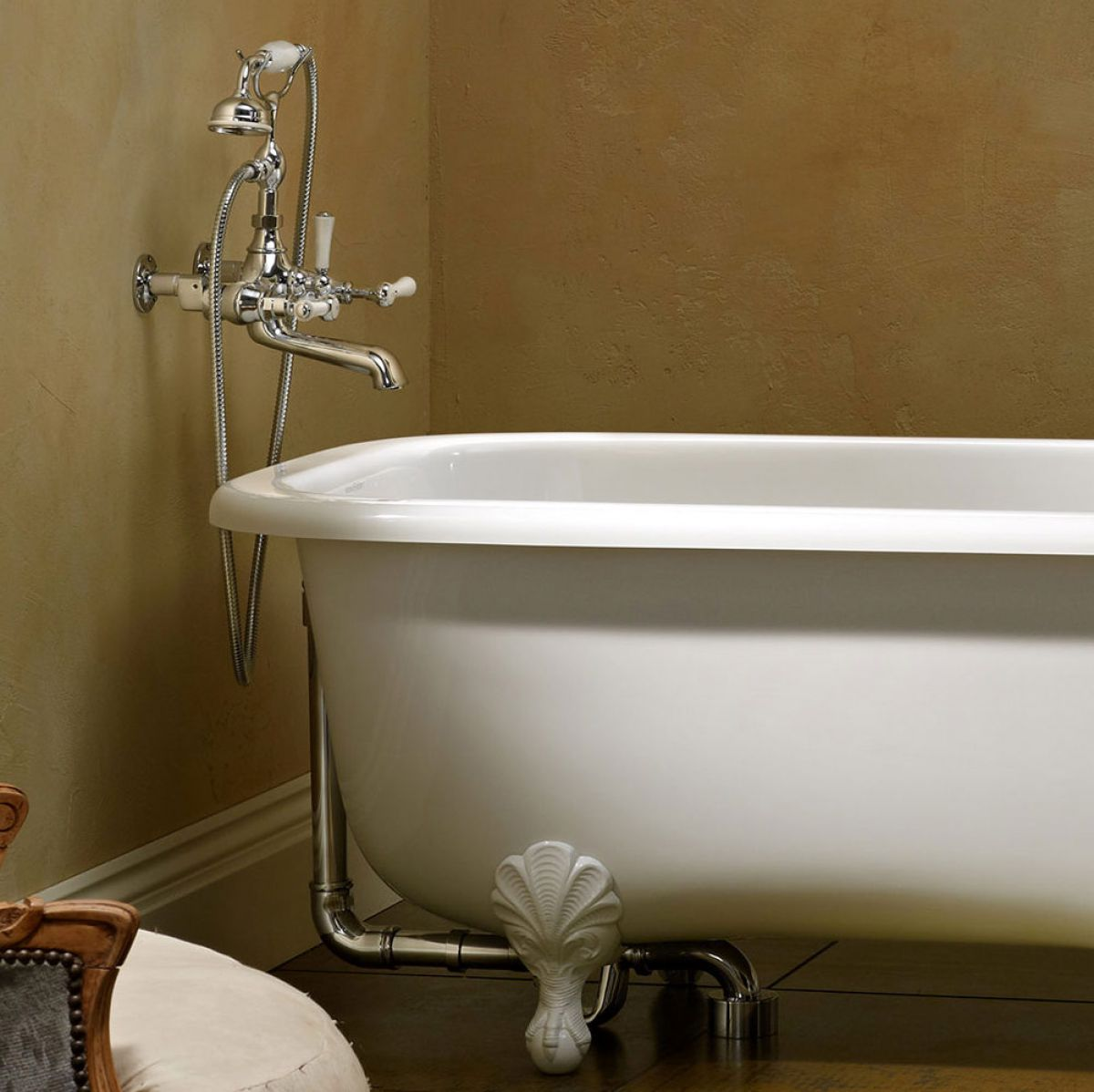 Victoria And Albert Staffordshire 15 Wall Mounted Bath Mixer Tap With Shower Handset Uk Bathrooms