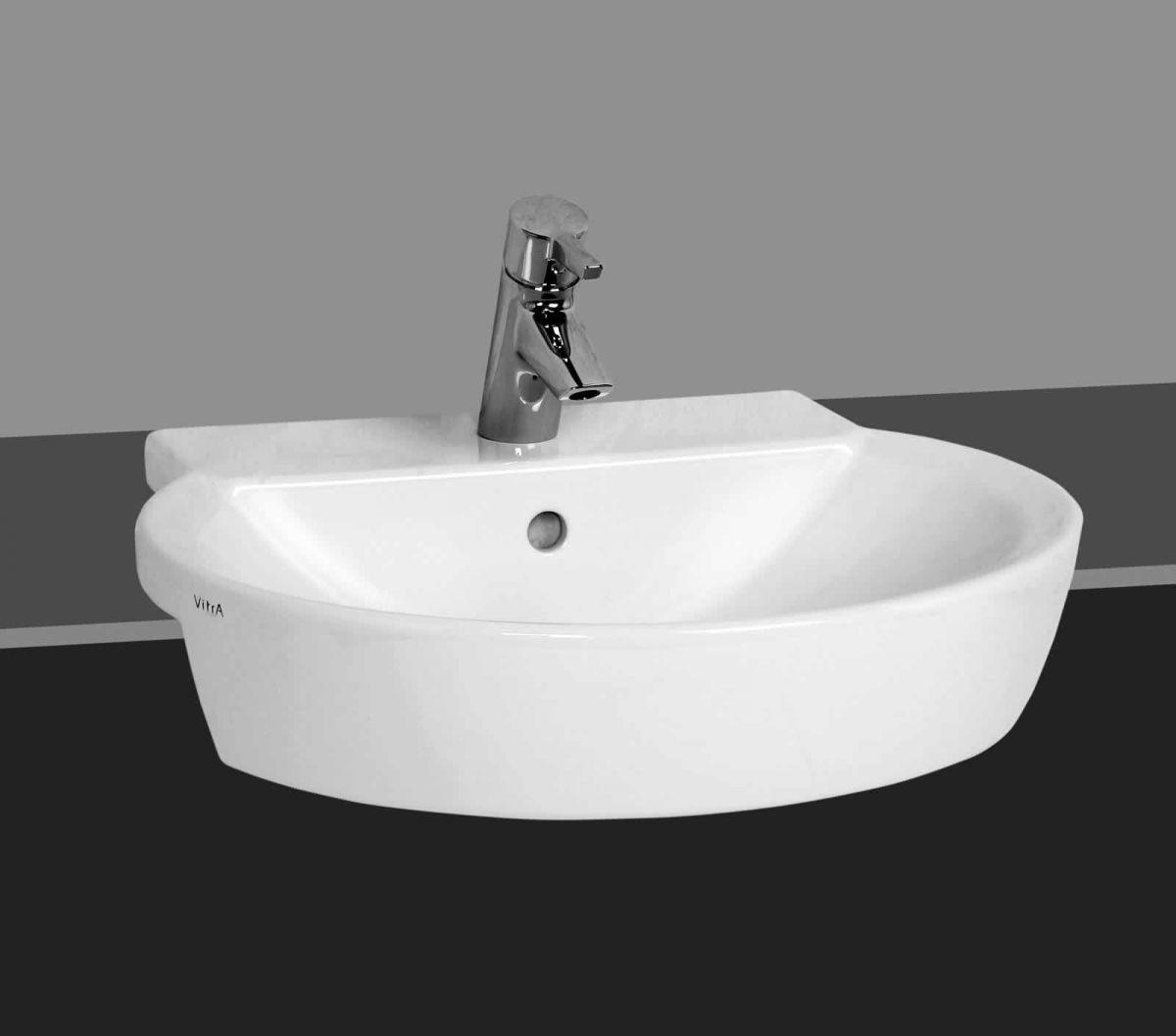 Vitra Sunrise Semi Recessed Basin Uk Bathrooms