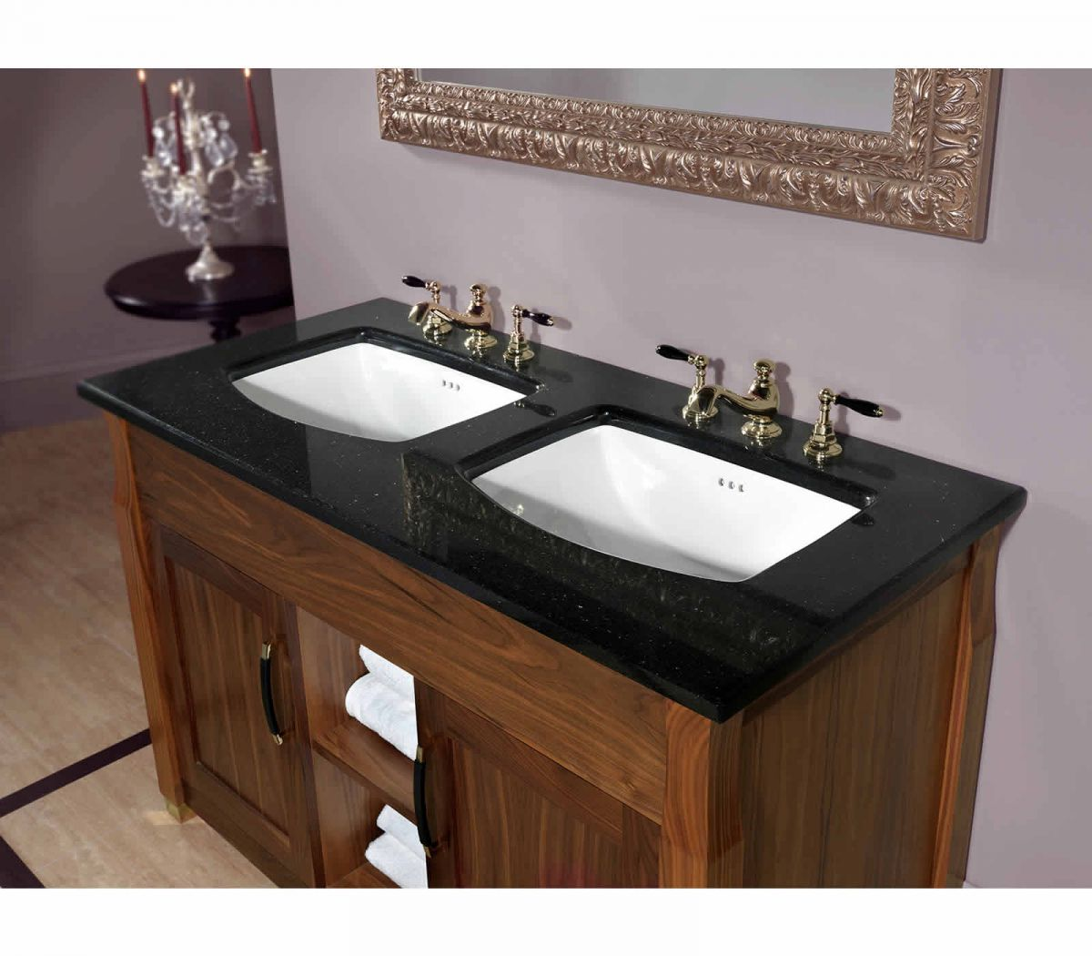 Imperial Astoria Deco Barrington Double Vanity Unit Uk Bathrooms