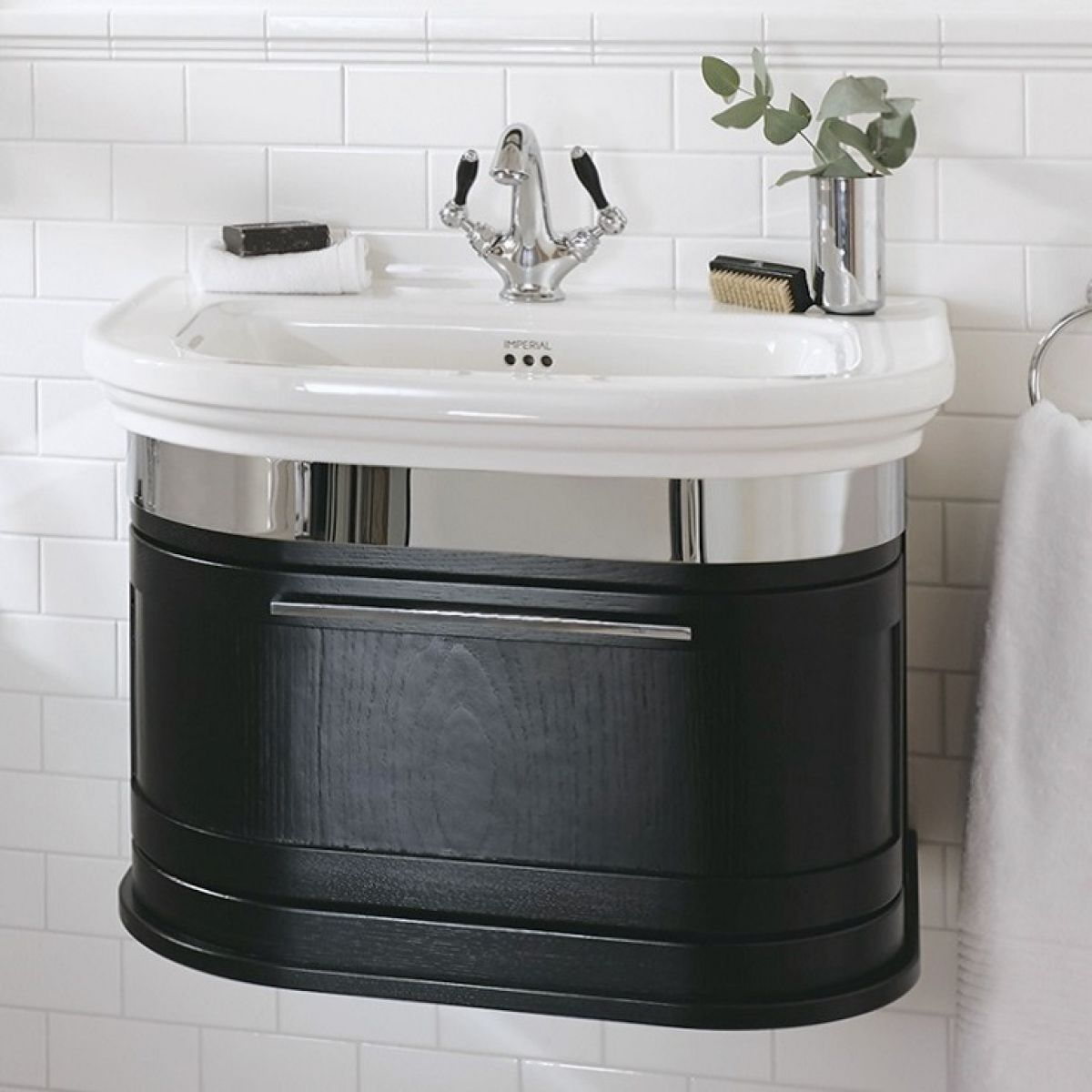 Imperial Roseland 1 Drawer Wall Hung Vanity Uk Bathrooms