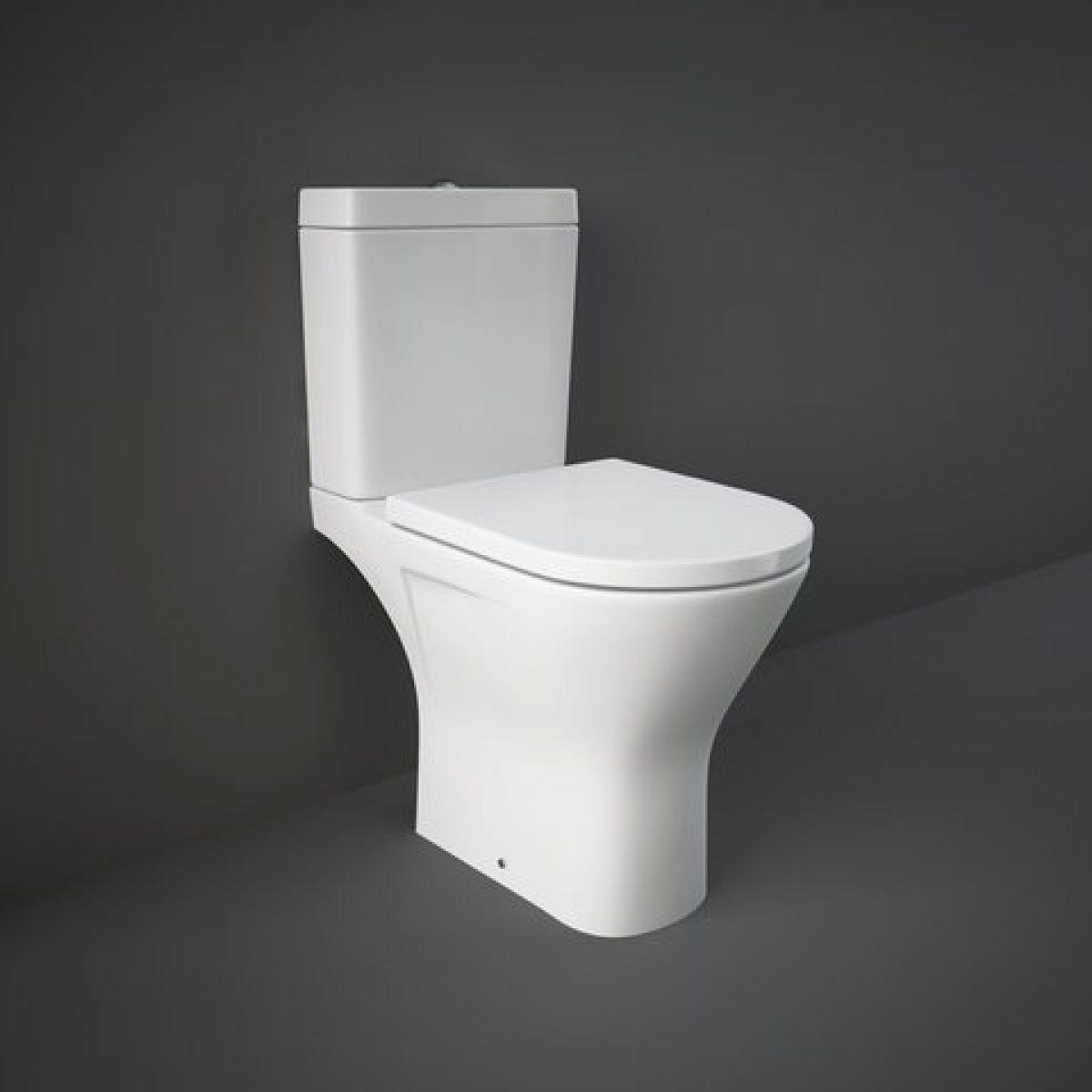 RAK Resort Comfort Height Maxi Close Coupled Open Back Rimless Toilet Suite