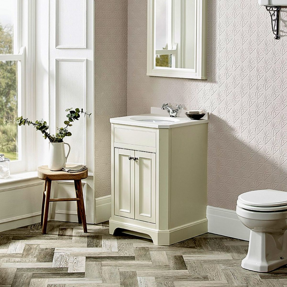 image example of freestanding bathroom furniture