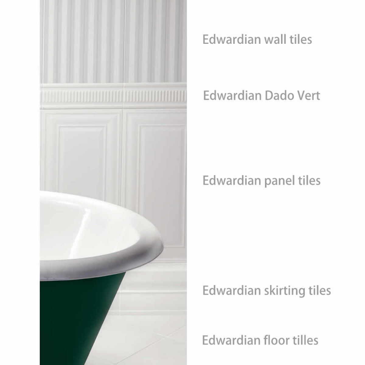 Imperial bathrooms edwardian dado vert tile uk bathrooms imperial bathrooms edwardian dado vert tile dailygadgetfo Images