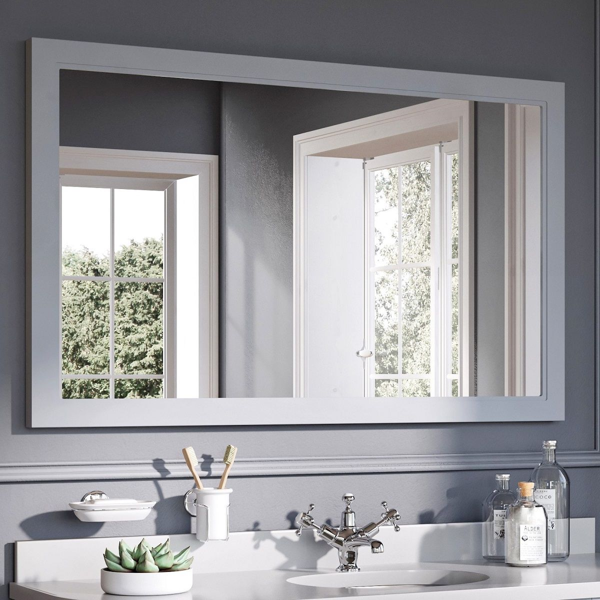 Burlington Framed Mirror Uk Bathrooms