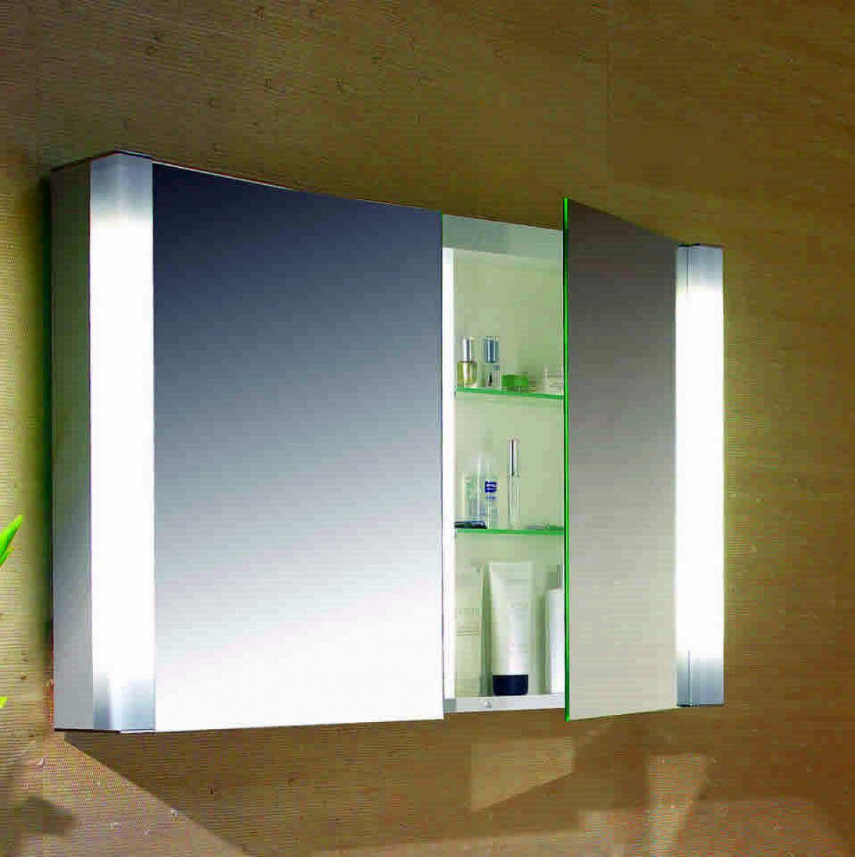 Schneider pepline 2 door mirror cabinet 1000mm ukbathrooms for Bathroom mirror cabinets 900mm and 1000mm