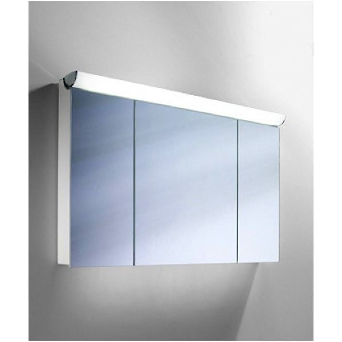 Schneider Faceline 3 Door Illuminated Mirror Cabinet 1300mm