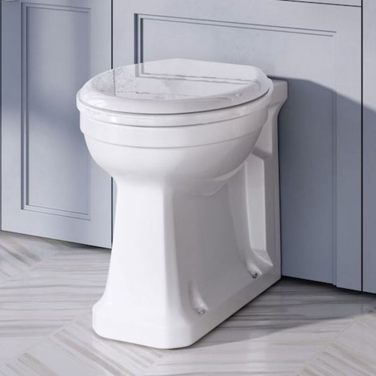 Burlington Rimless Floorstanding Back to Wall WC