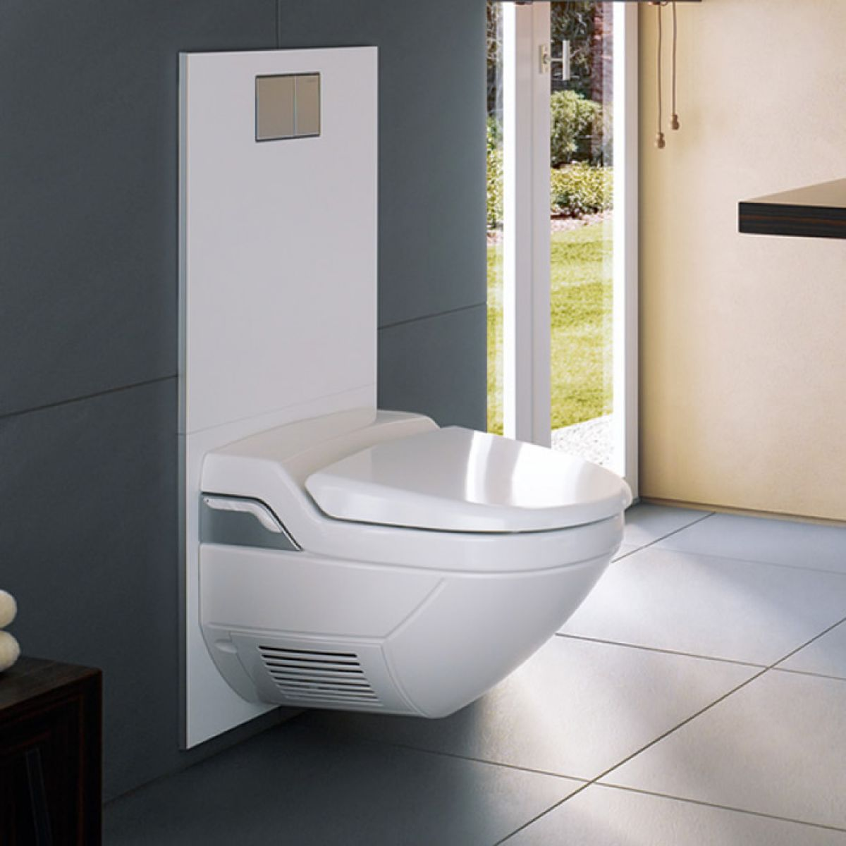 geberit aquaclean complete design cistern cover for 8000. Black Bedroom Furniture Sets. Home Design Ideas