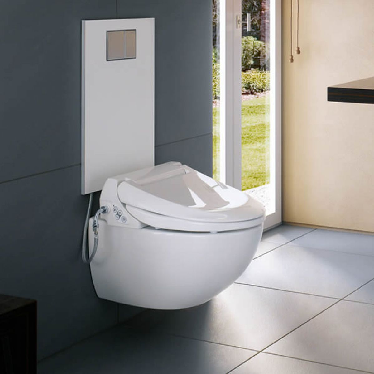 geberit aquaclean design cistern cover for 4000 5000 and 5000 plus uk bathrooms. Black Bedroom Furniture Sets. Home Design Ideas