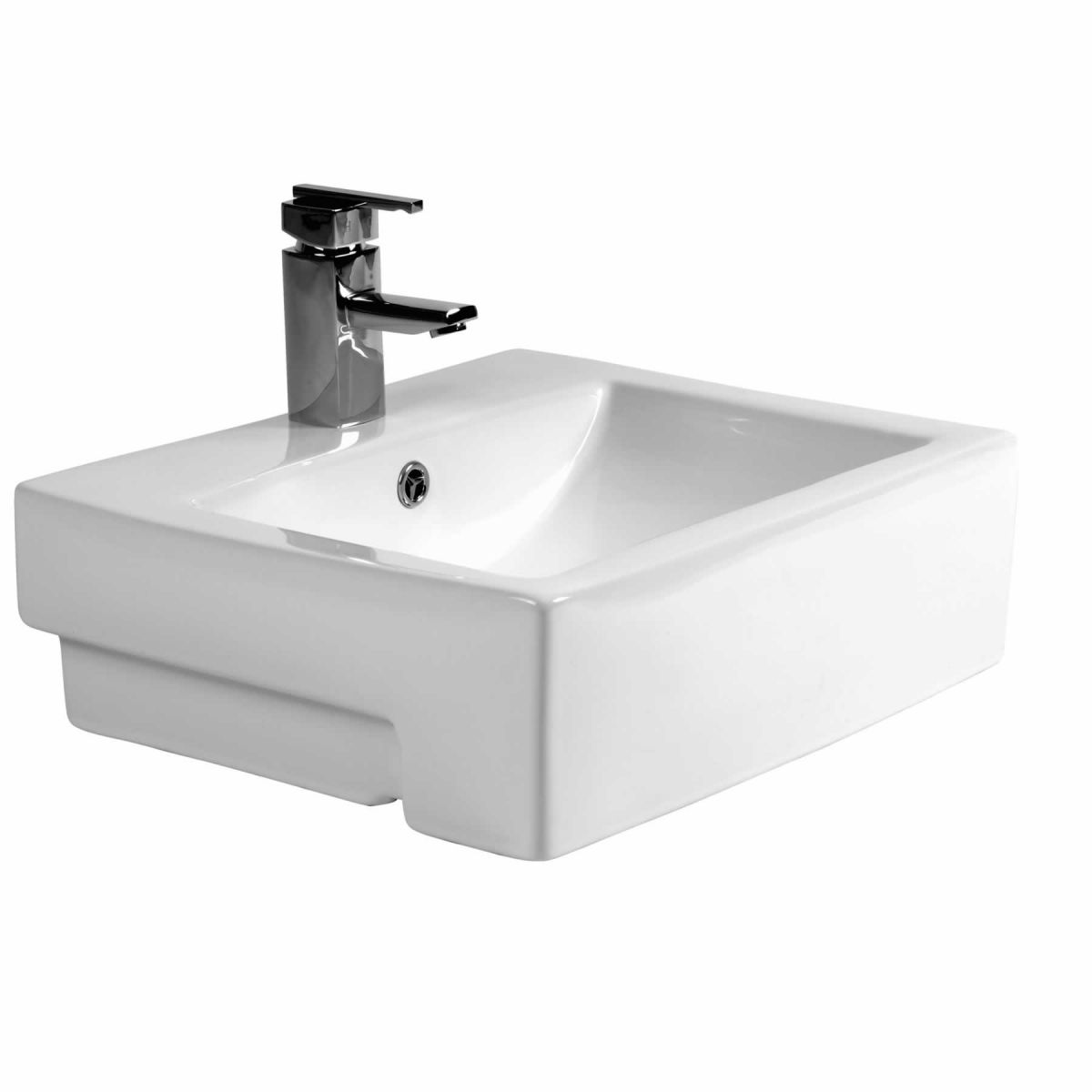 Phoenix Qube Semi Recessed Basin Uk Bathrooms