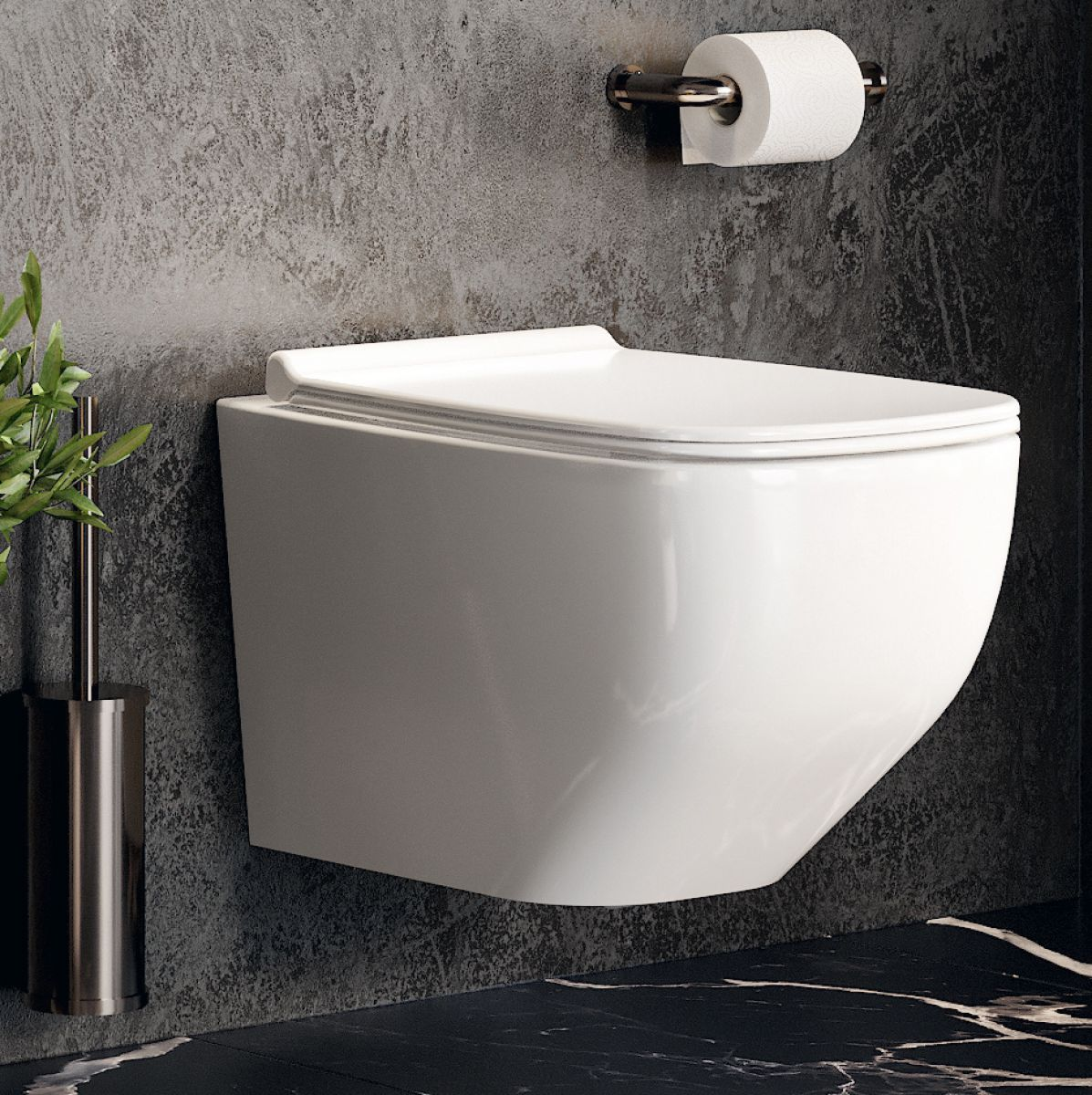 image example of a wall hung toilet