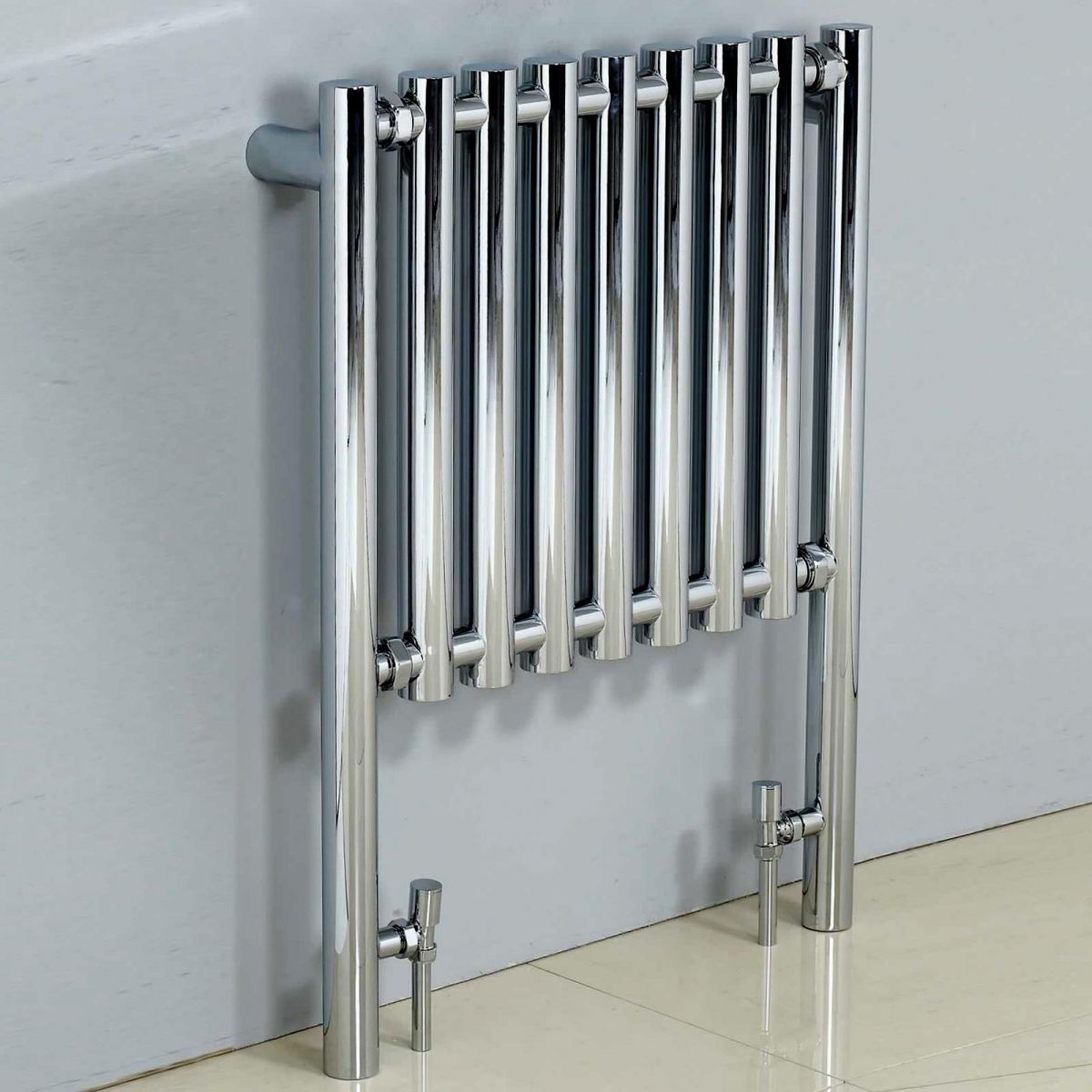 Phoenix mia chrome designer radiator 800 x 600mm uk for Household radiator design