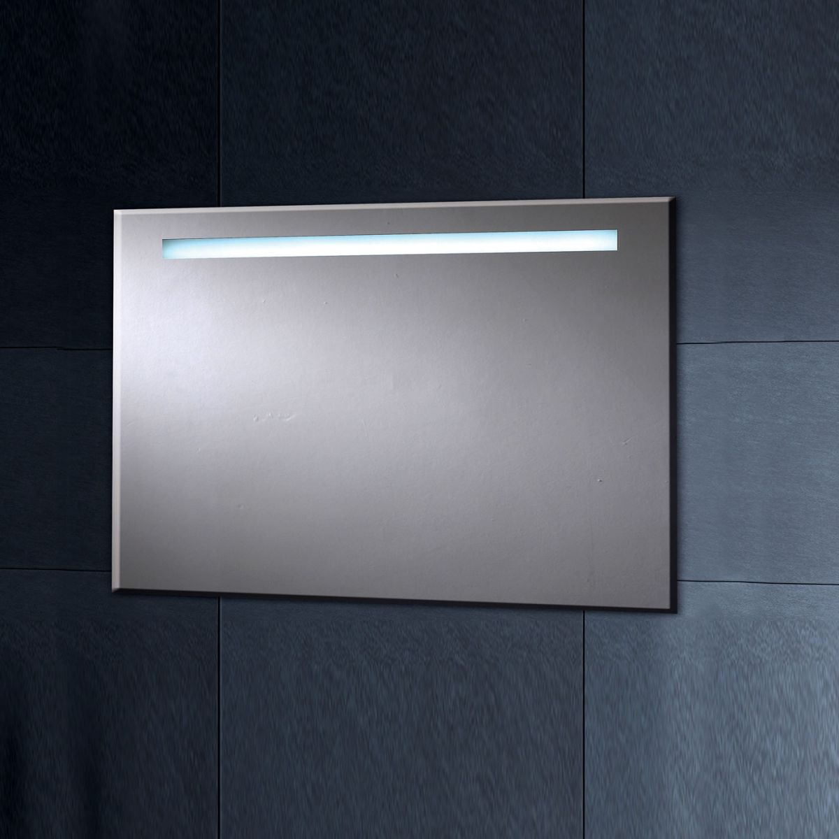 Phoenix illuminated heated mirror with shaver socket 900mm for Heated bathroom mirror