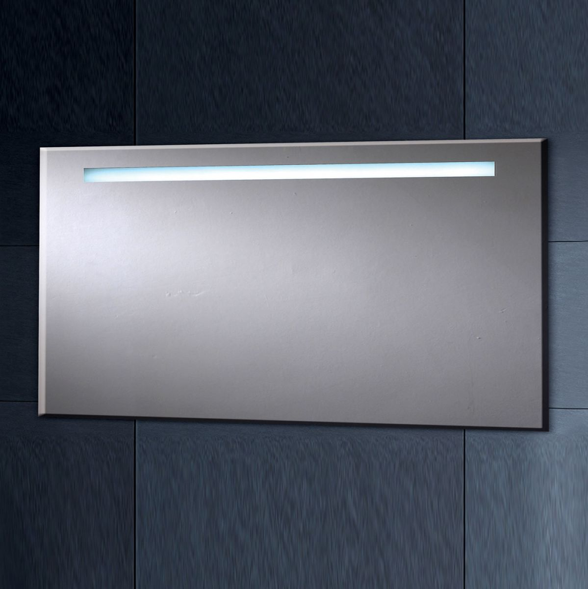 Phoenix illuminated heated mirror with shaver socket for Heated bathroom mirror
