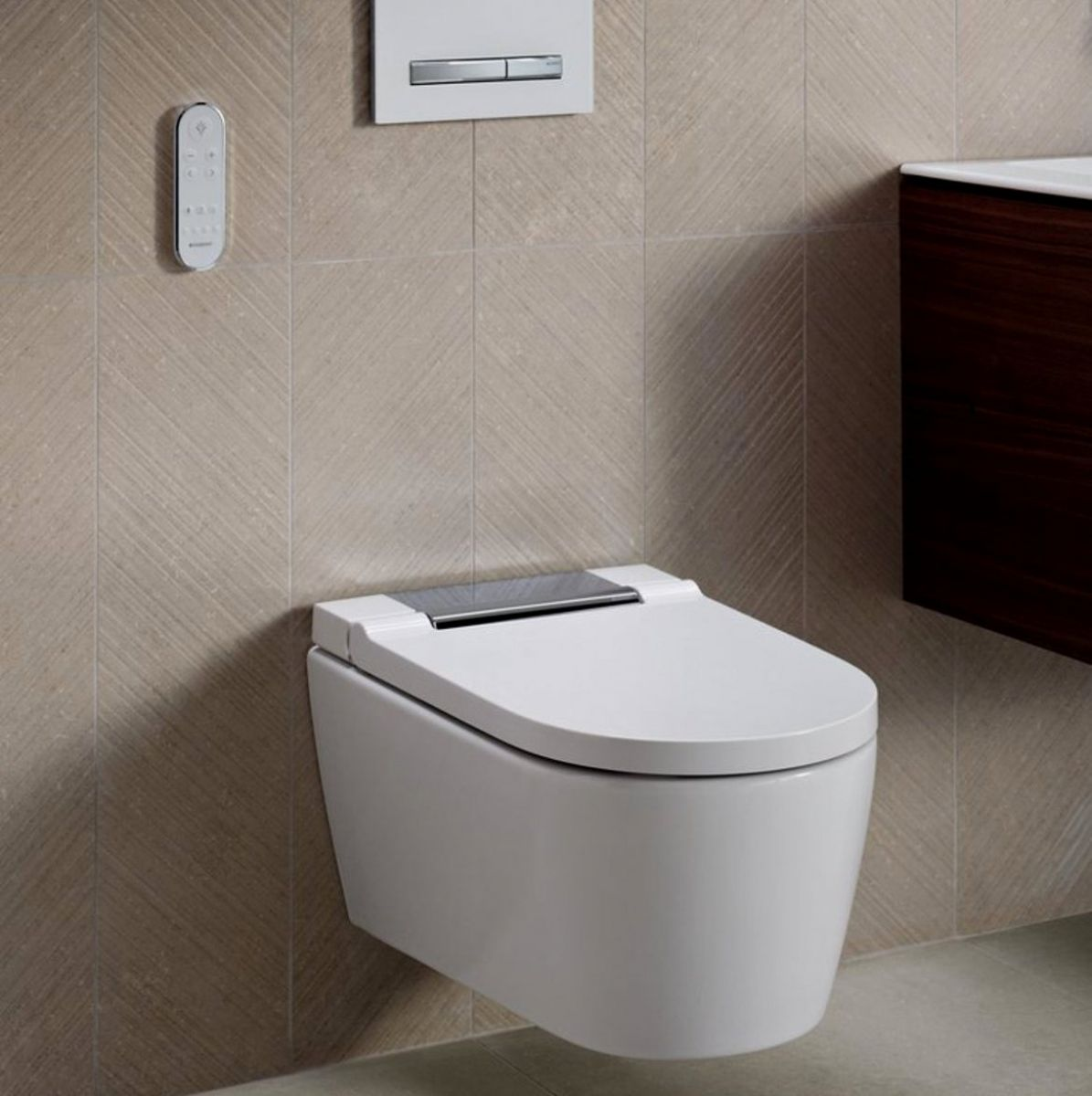 Fine Geberit Aquaclean Sela Wall Hung Shower Toilet Dailytribune Chair Design For Home Dailytribuneorg