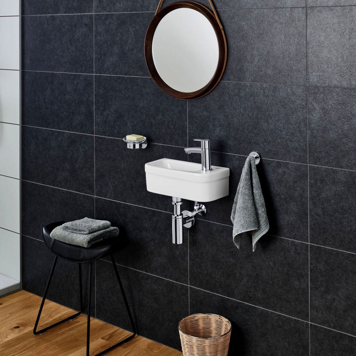image example of a cloakroom basin