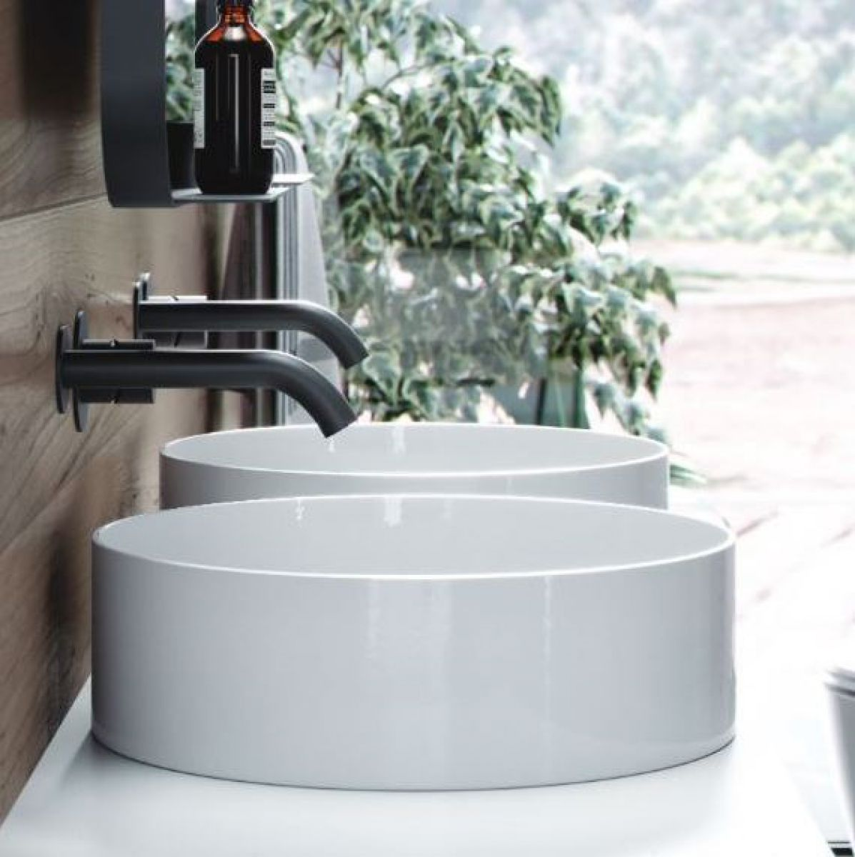 image example of a countertop bathroom sink