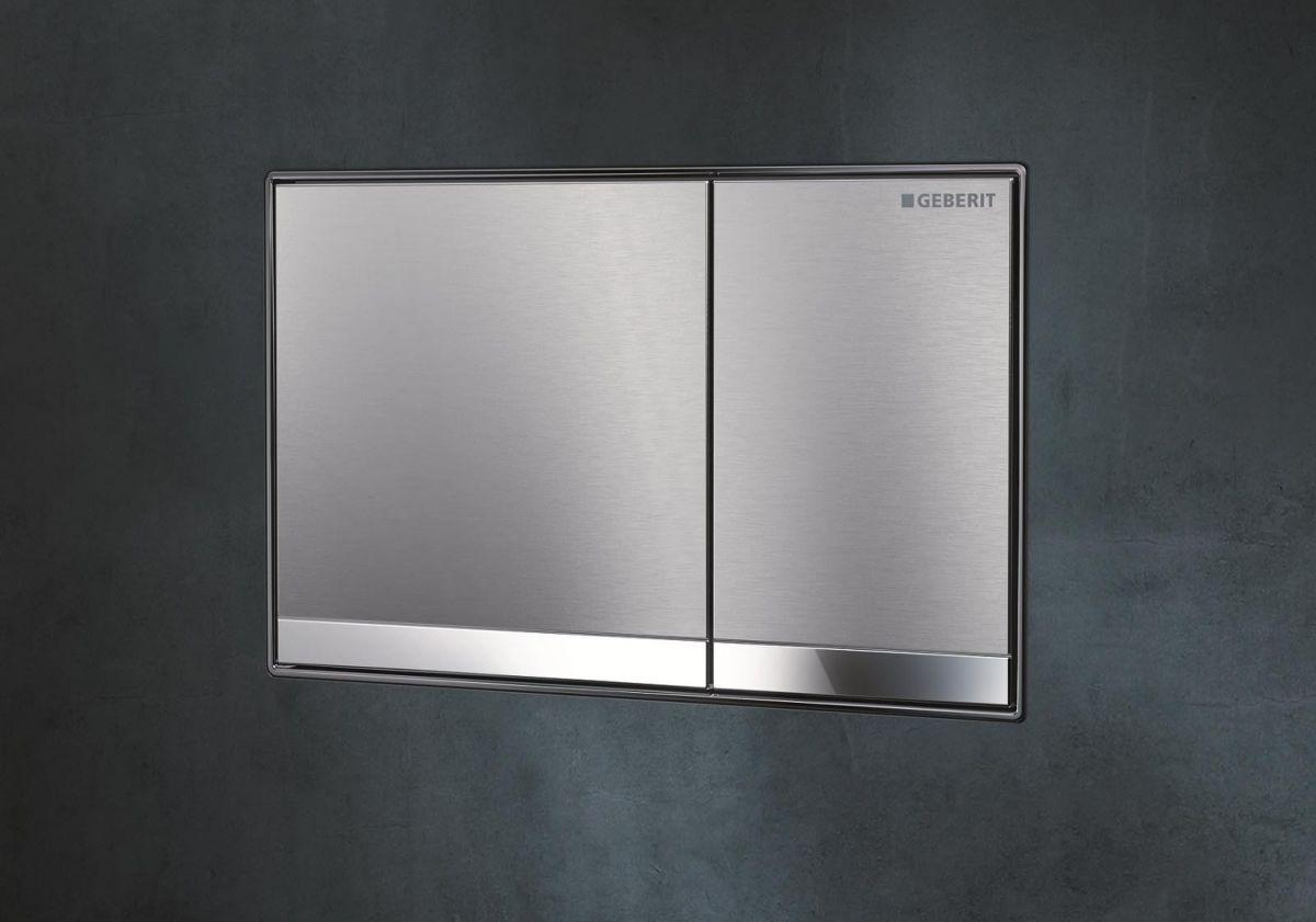 geberit sigma 60 brushed chrome flush plate uk bathrooms. Black Bedroom Furniture Sets. Home Design Ideas