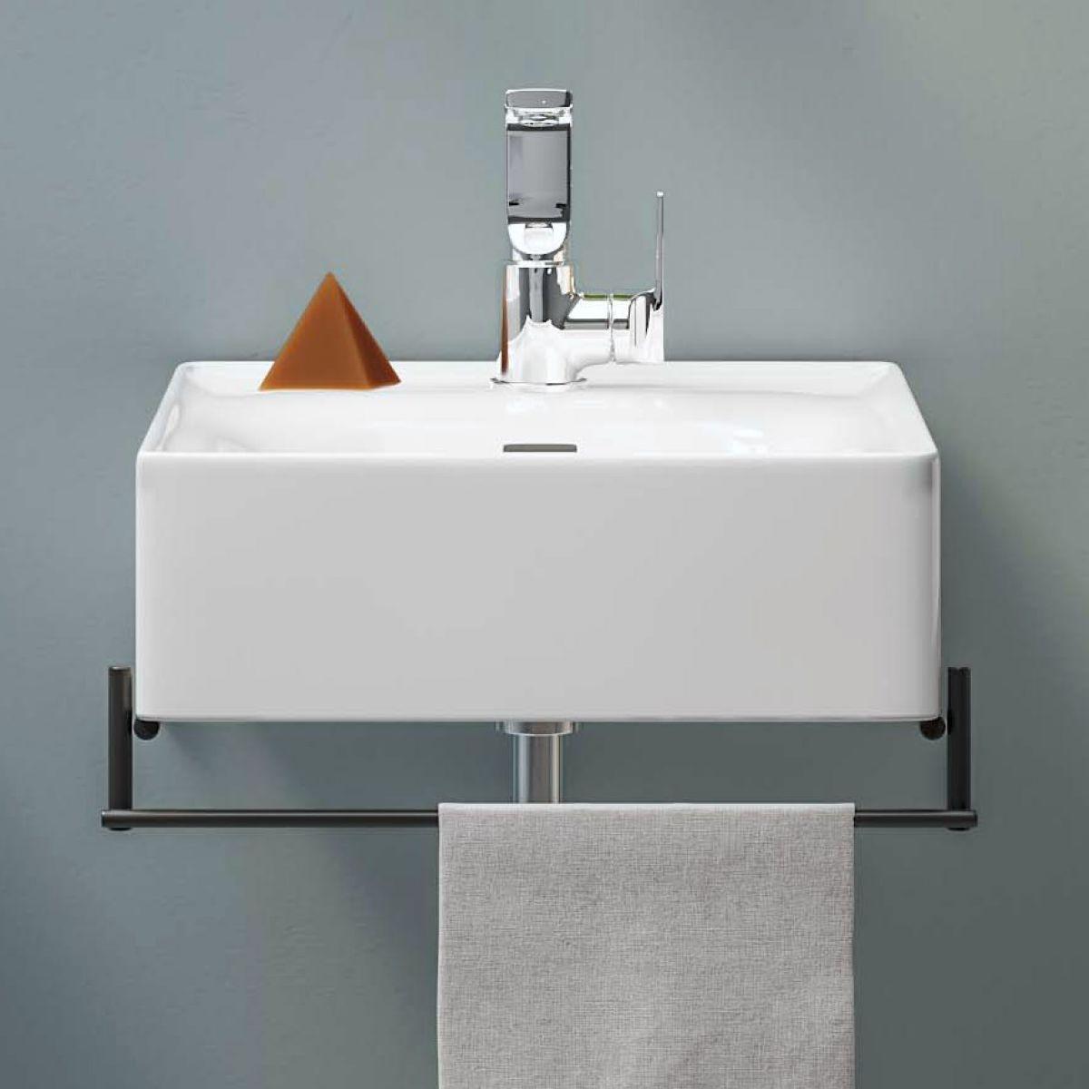 VitrA Equal Basin with Black Towel Rail - 64079