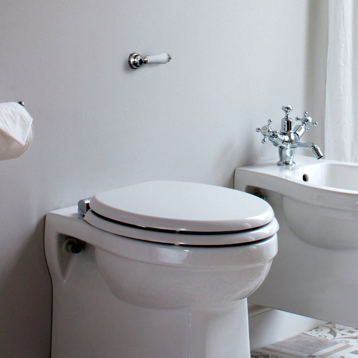 The Burlington Concealed Toilet Cistern with Traditional Lever