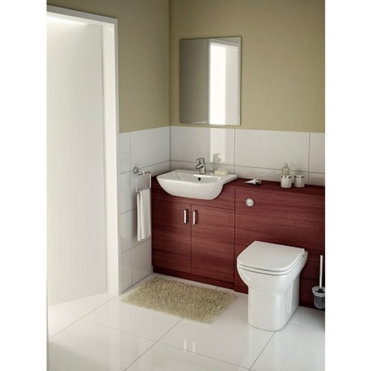 Vitra S20 Semi Recessed Washbasin