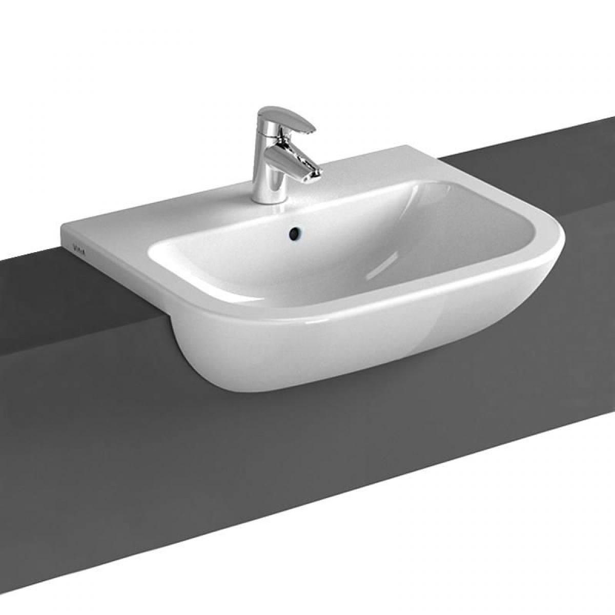 Inset wash basin vanity basin washbasins -  Vitra S20 Semi Recessed Washbasin