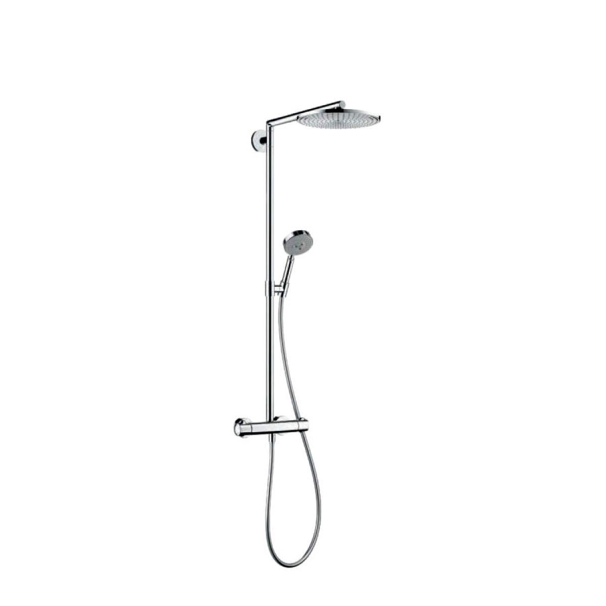 Hansgrohe raindance showerpipe 300 with 460mm shower arm uk bathrooms - Hansgrohe shower arm ...