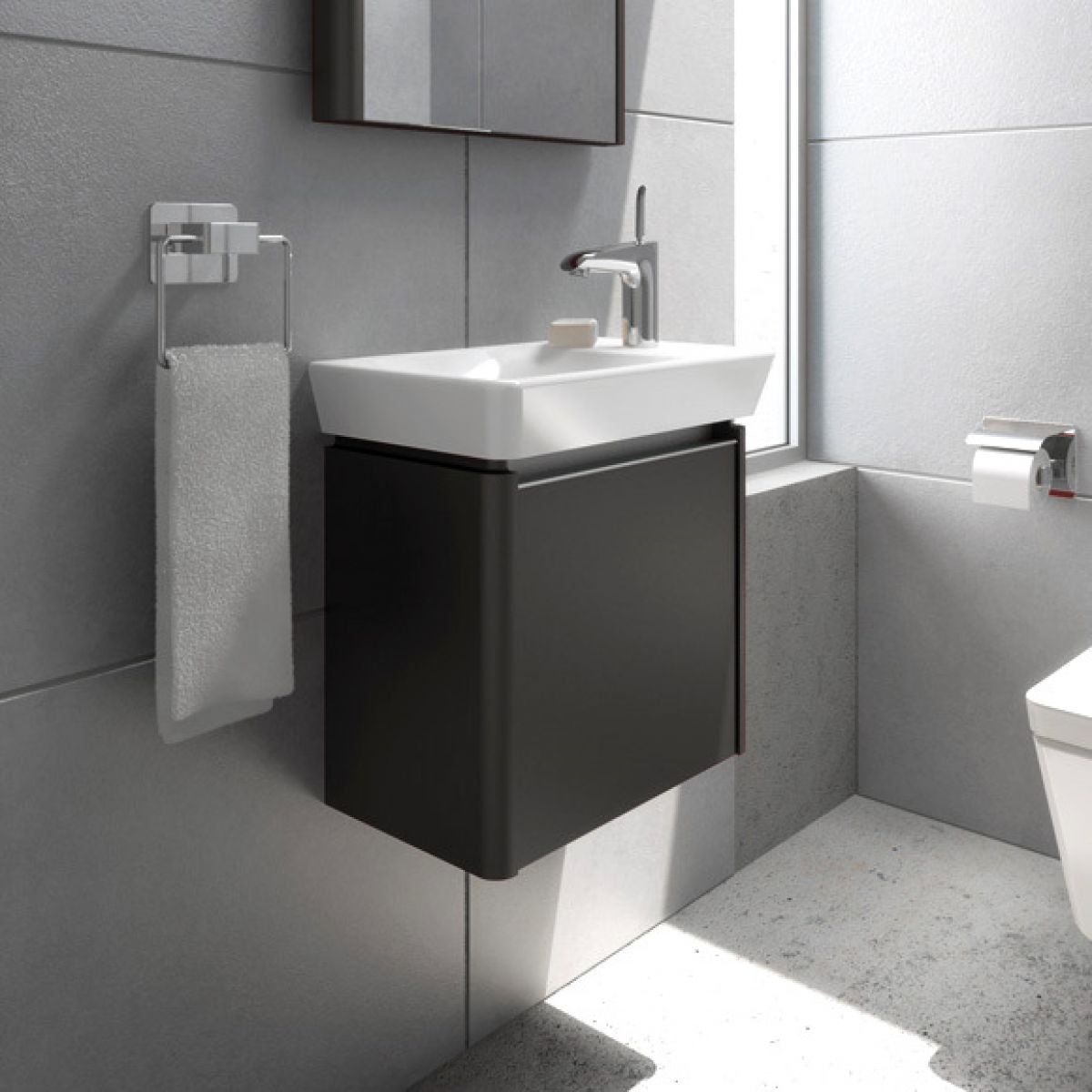 Vitra T4 Basin With Offset Tap Hole Uk Bathrooms