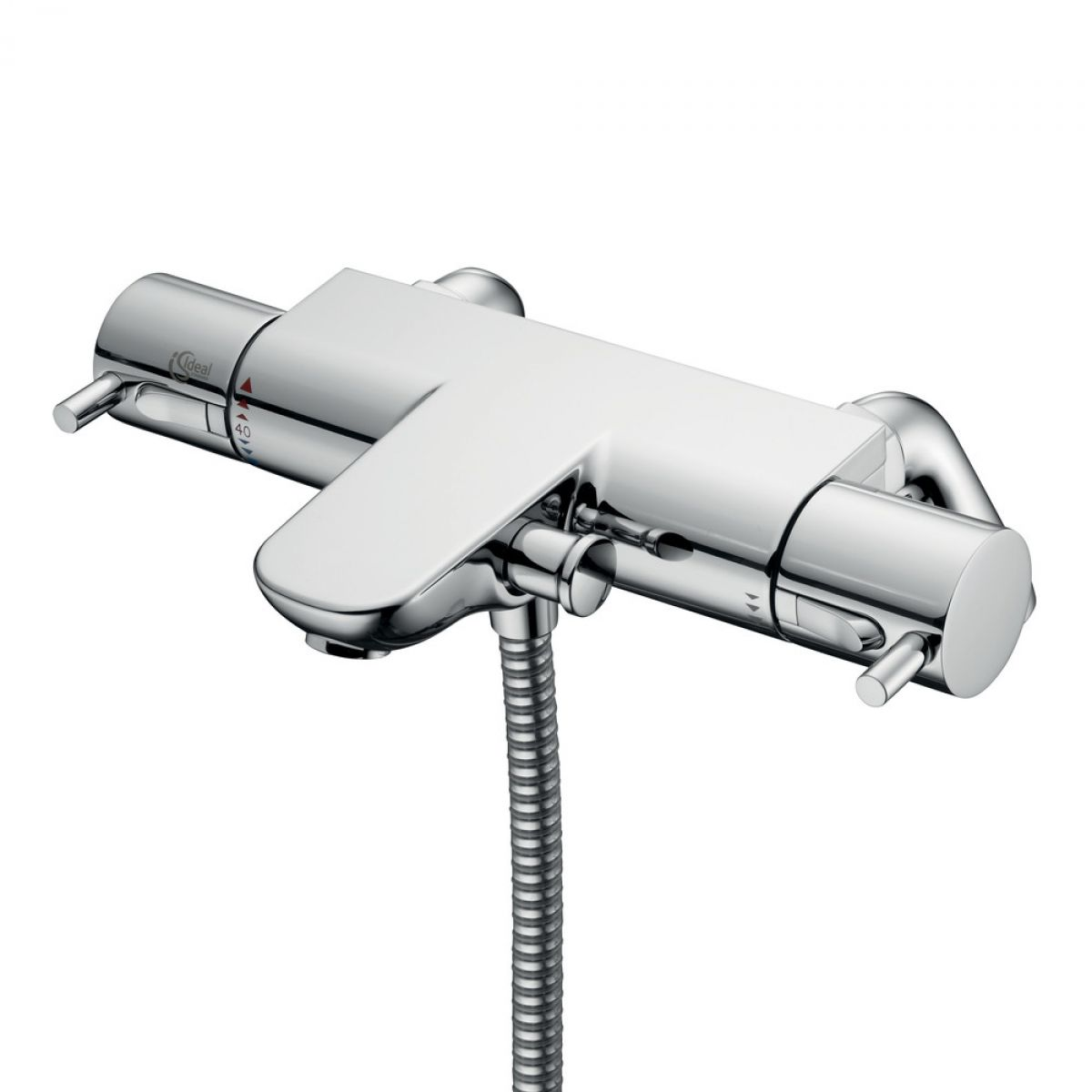 ideal standard ecotherm thermostatic bath shower mixer vitalia premium wall mounted thermostatic bath shower mixer