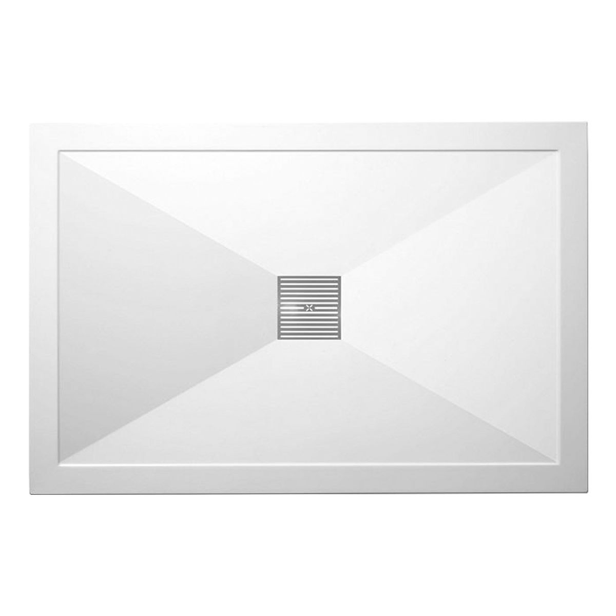 Crosswater (Simpsons) 25mm Stone Resin Rectangular Shower Tray with waste