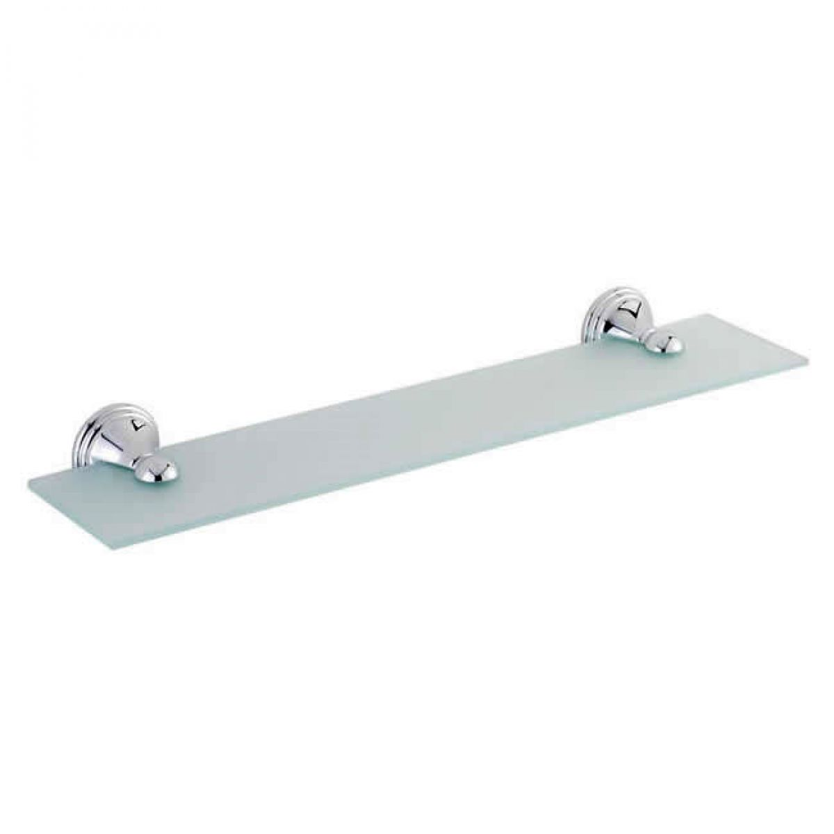 Tre mercati reno 50cm frosted glass bathroom shelf 60150 for Bathroom glass shelves
