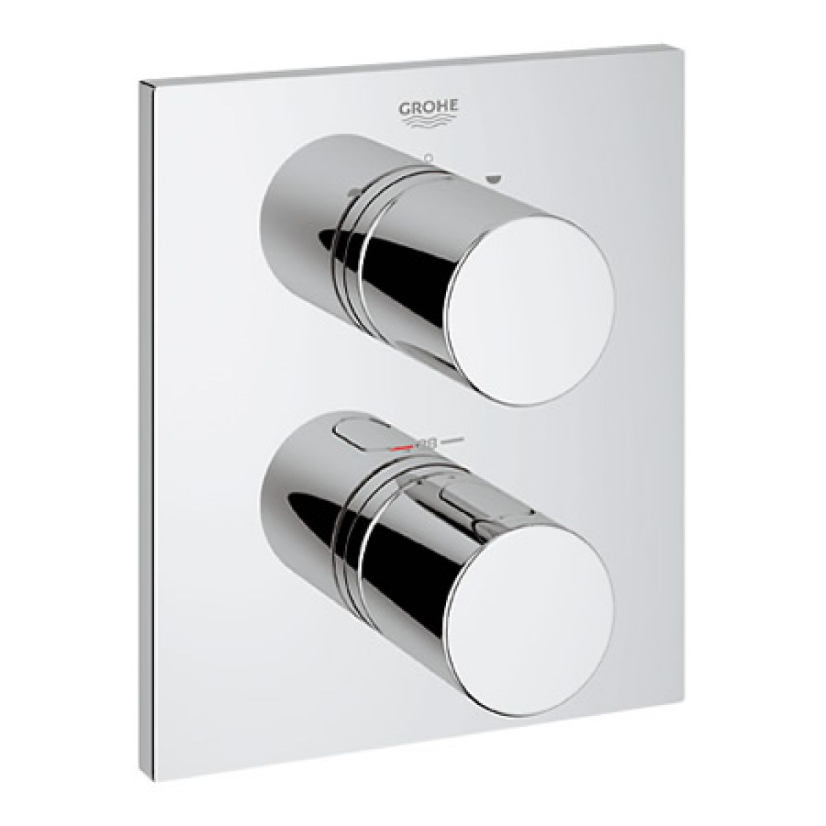Grohtherm 3000 Cosmo Square Thermostatic Bath and Shower Mixer : UK ...