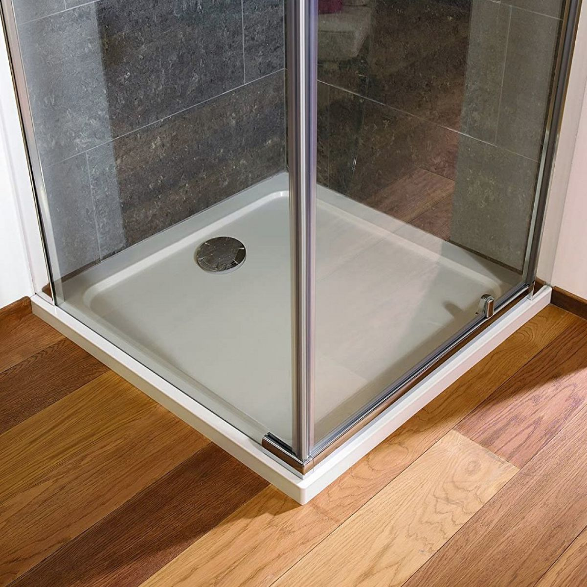 The Mira Flight Low Square Shower Tray