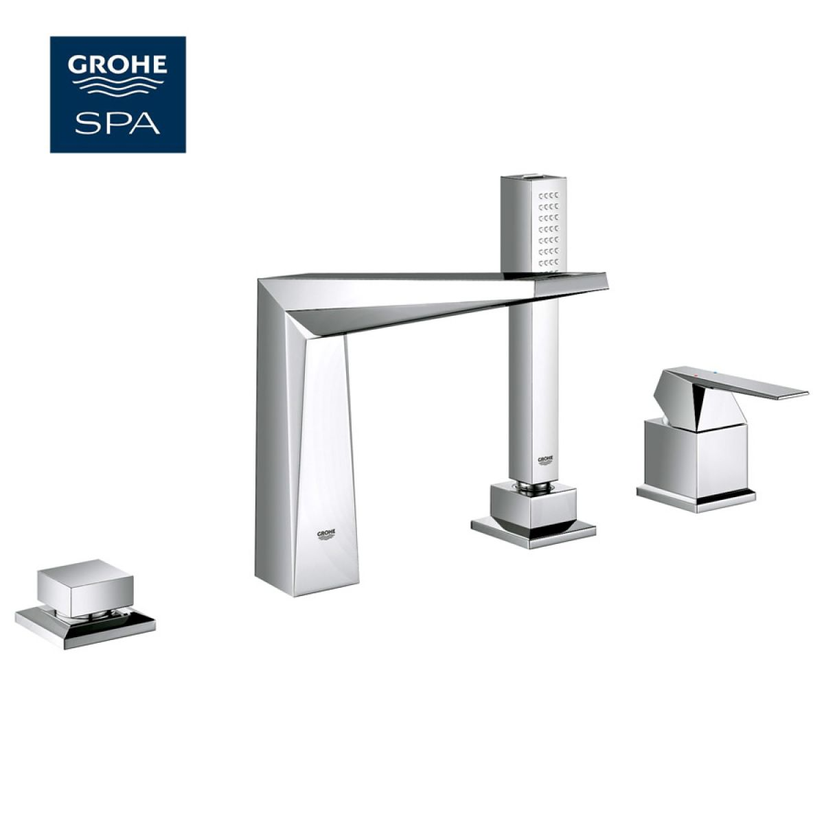 grohe allure brilliant 4 hole bath shower set uk bathrooms. Black Bedroom Furniture Sets. Home Design Ideas
