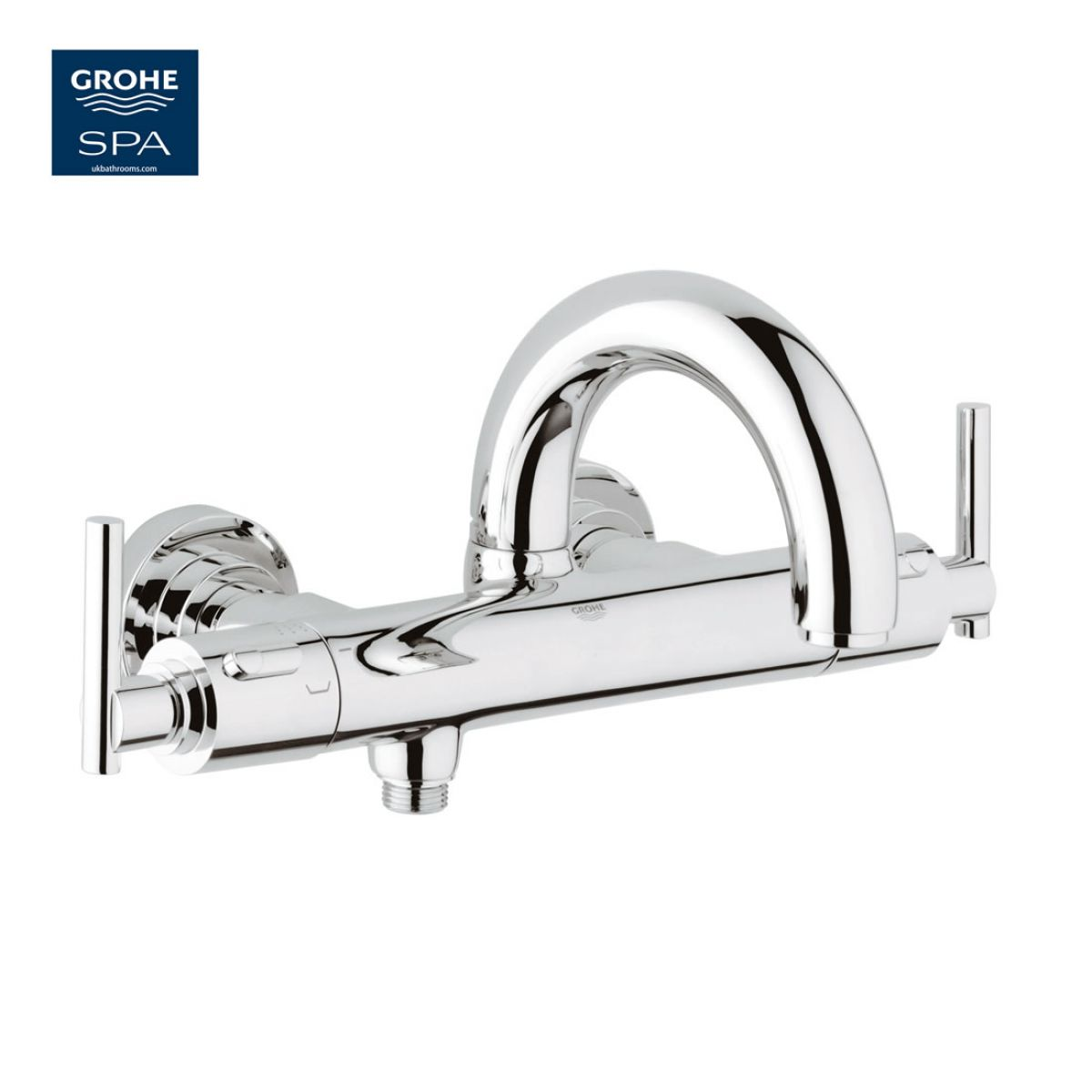 grohe atrio jota thermostatic bath shower mixer ukbathrooms grohe grohtherm 1000 thermostatic bath shower mixer 1 2
