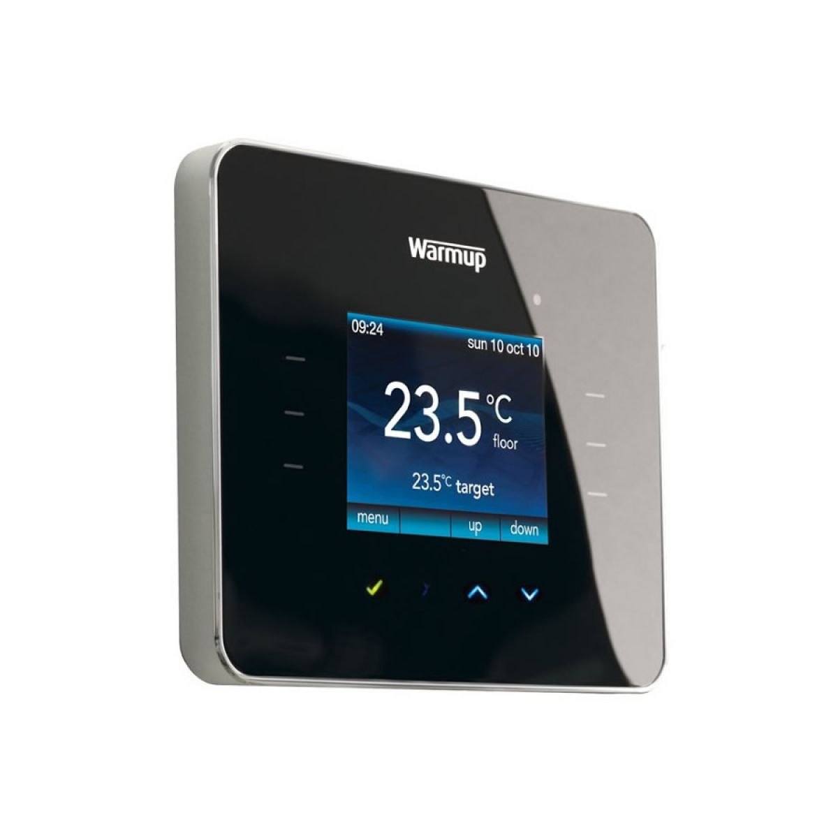 Warmup 3ie programmable touchscreen thermostat uk bathrooms for Heated bathroom floor thermostat