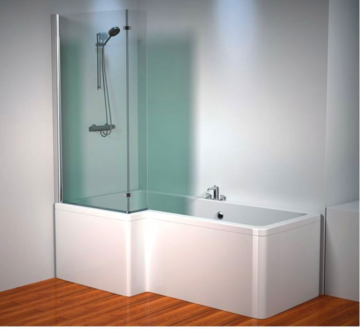Design Ideas For L Shaped Bathrooms ~ Kudos inspire l shaped showerbath screen uk bathrooms