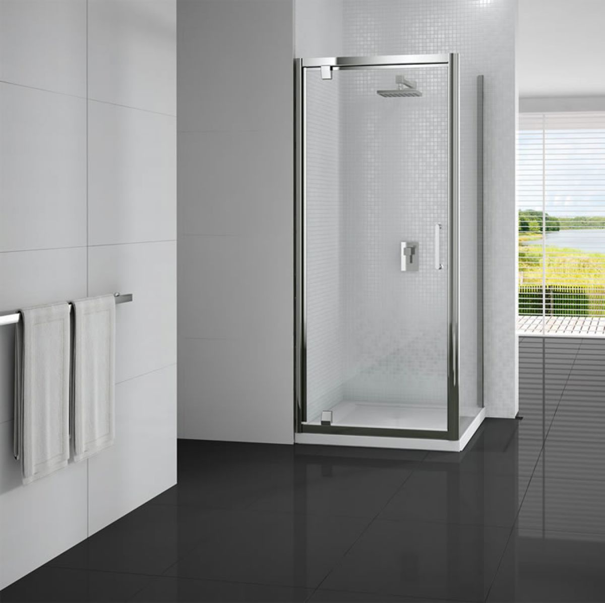 Merlyn Vivid 6 Pivot Shower Door Uk Bathrooms