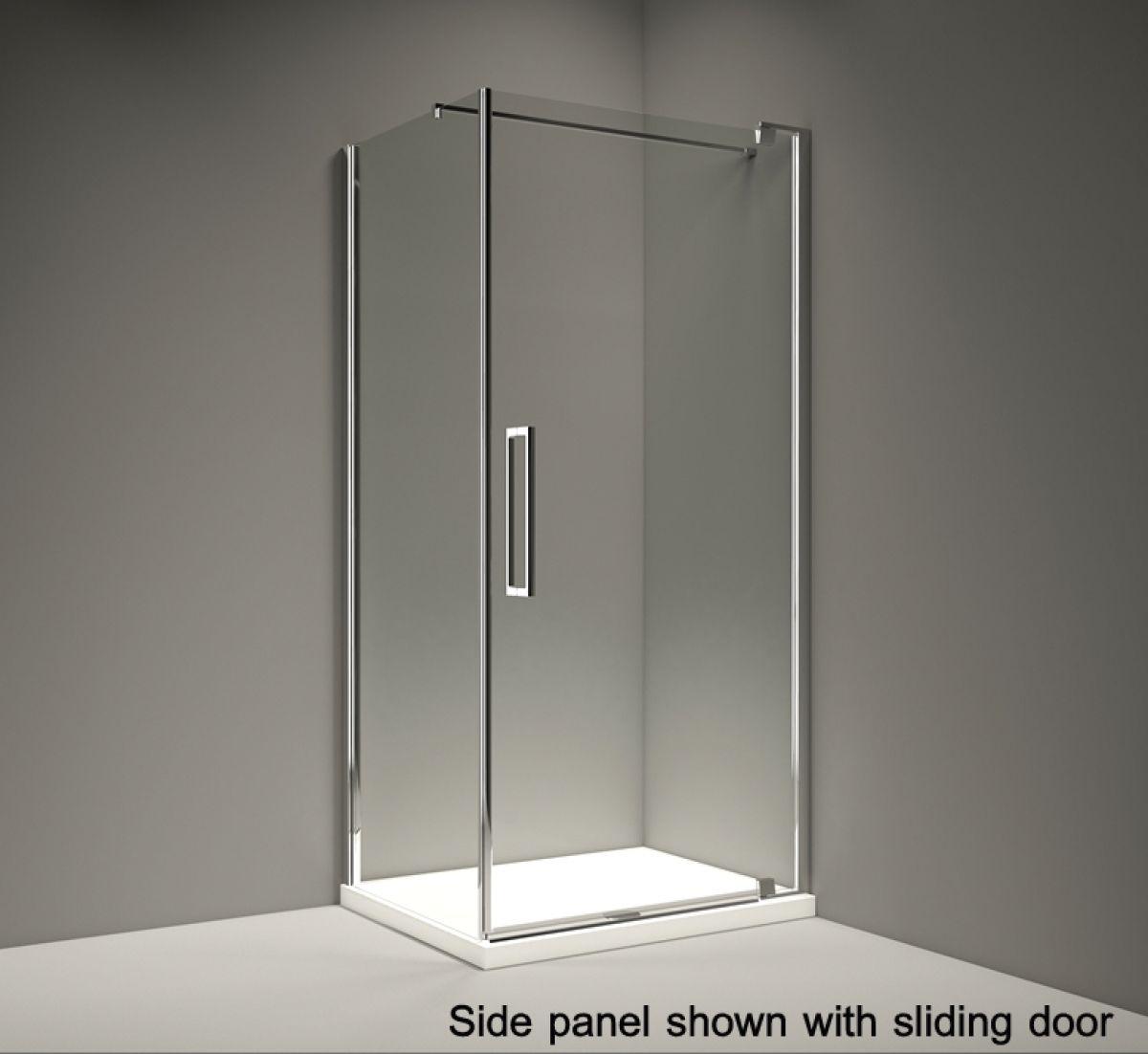 Merlyn Series 10 Pivot Shower Door Side Panel : UK Bathrooms