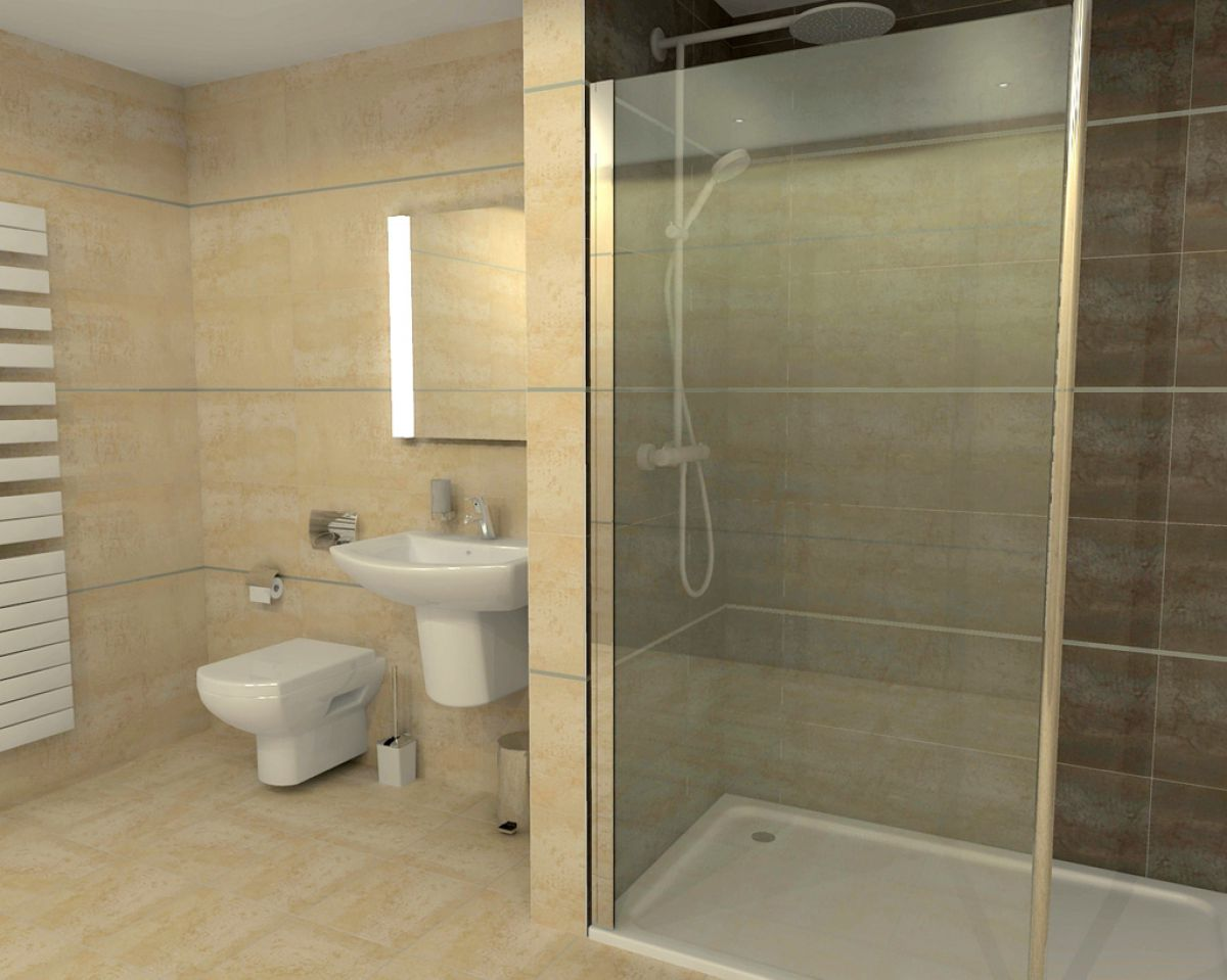 Rho Complete Walk in Shower Pack 1700 x 760mm : UK Bathrooms