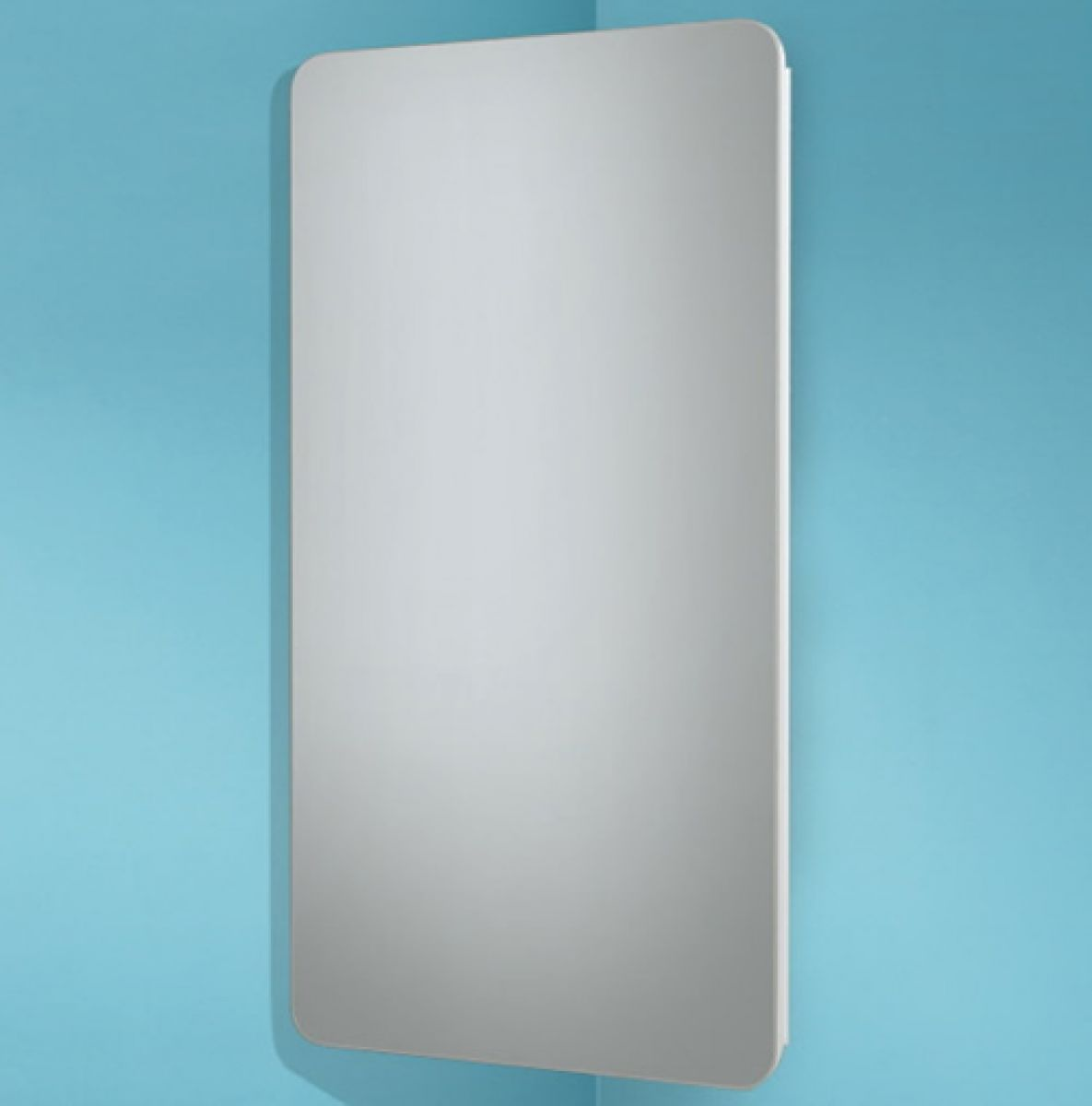 HIB Turin Mirrored Corner Bathroom Cabinet