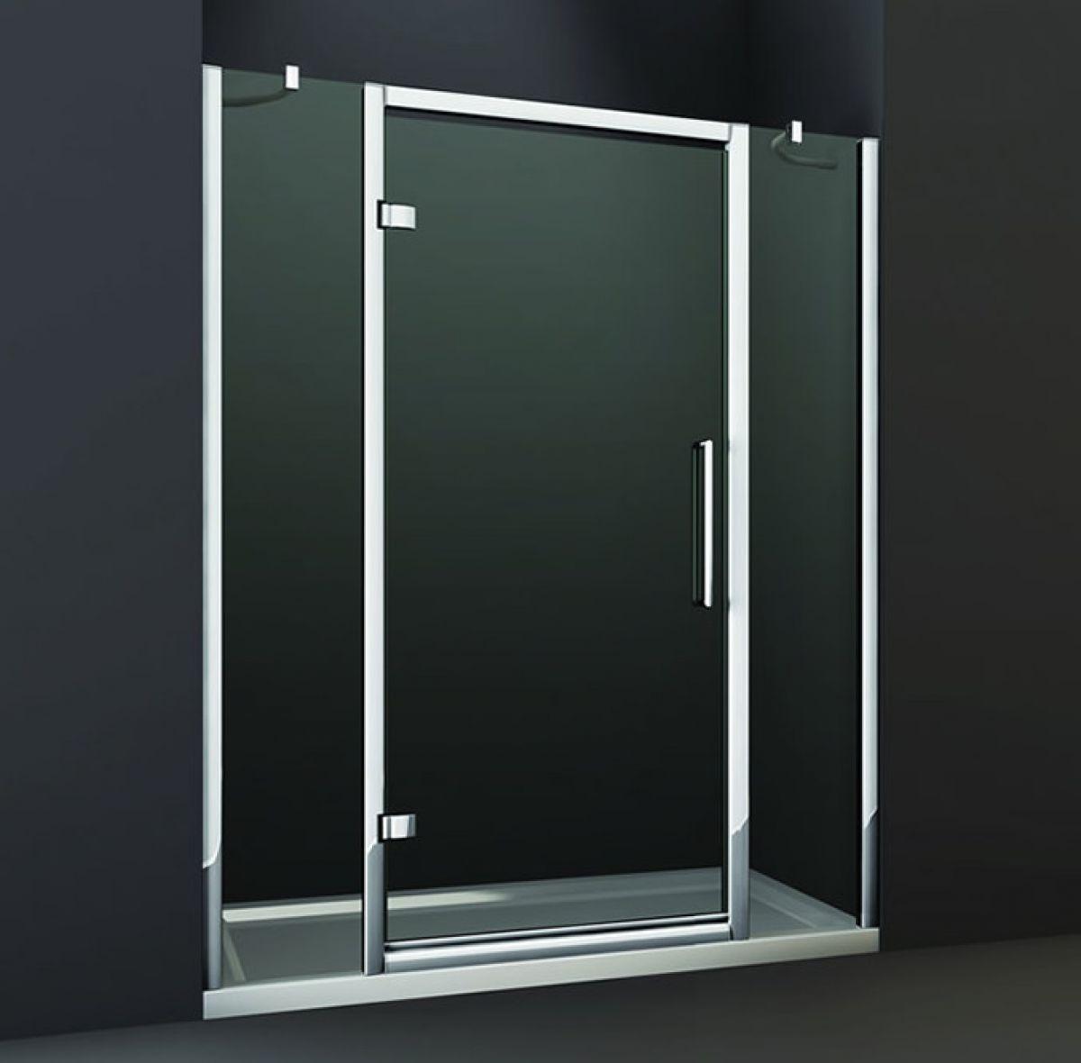 Double Hinged Shower Door : Merlyn series hinged shower door and double inline panel