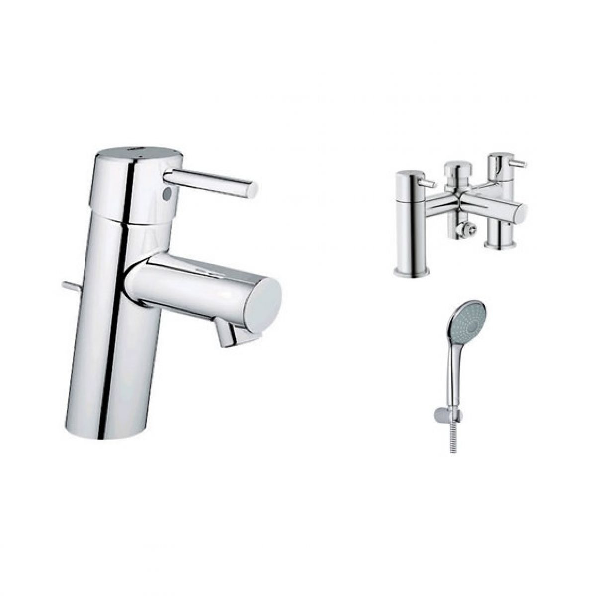 Grohe concetto basin and bath shower mixer with euphoria - Grohe concetto shower ...