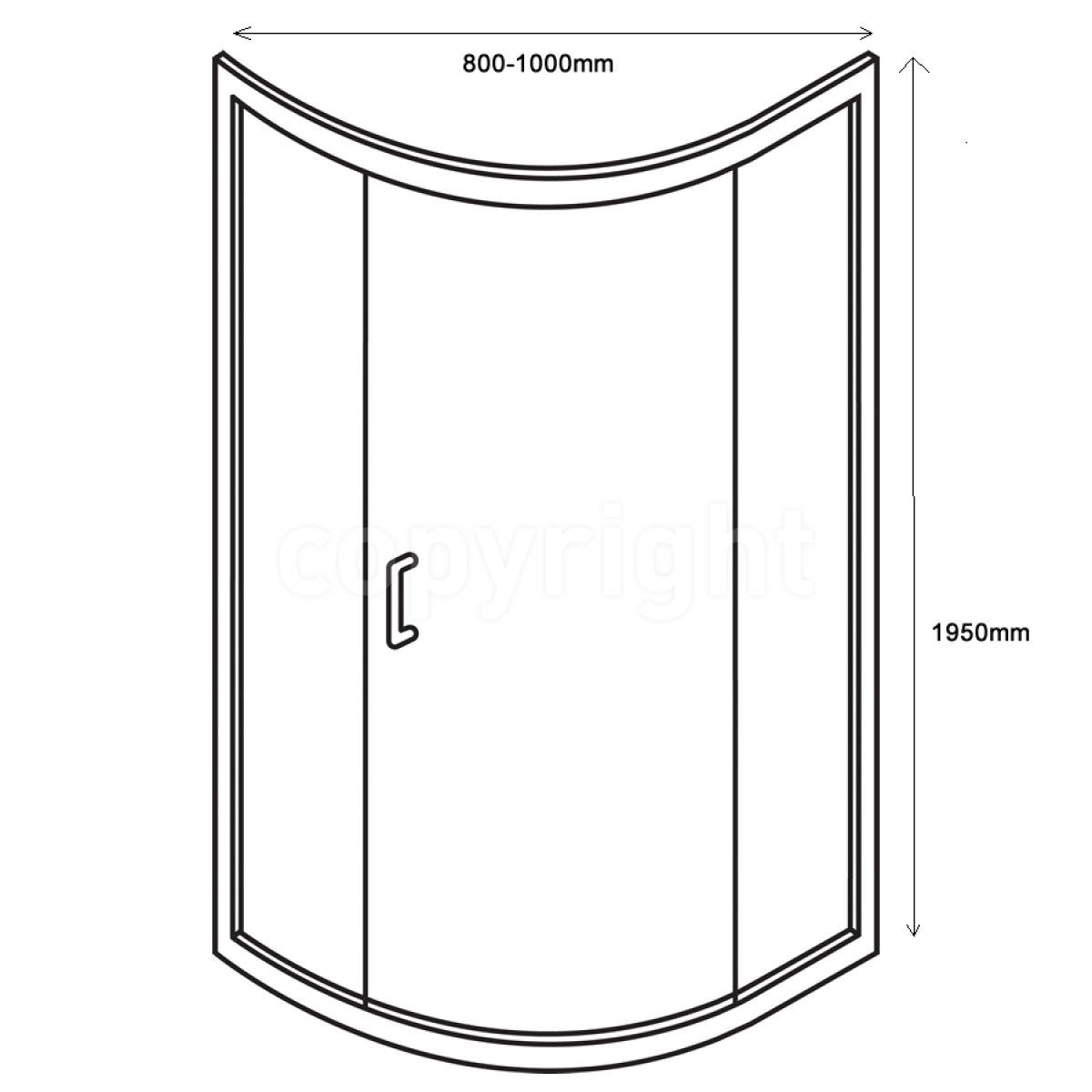 Simpsons Elite Quadrant Double Door Shower Enclosure Uk