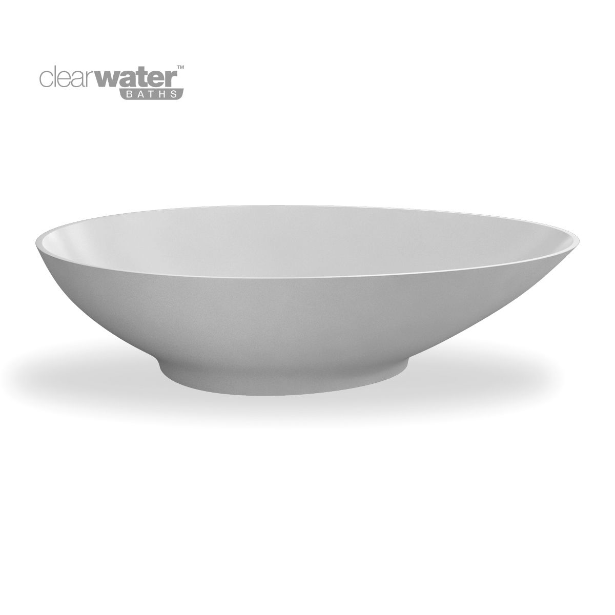 Clearwater teardrop petite clear stone bath uk bathrooms for Small baths 1200