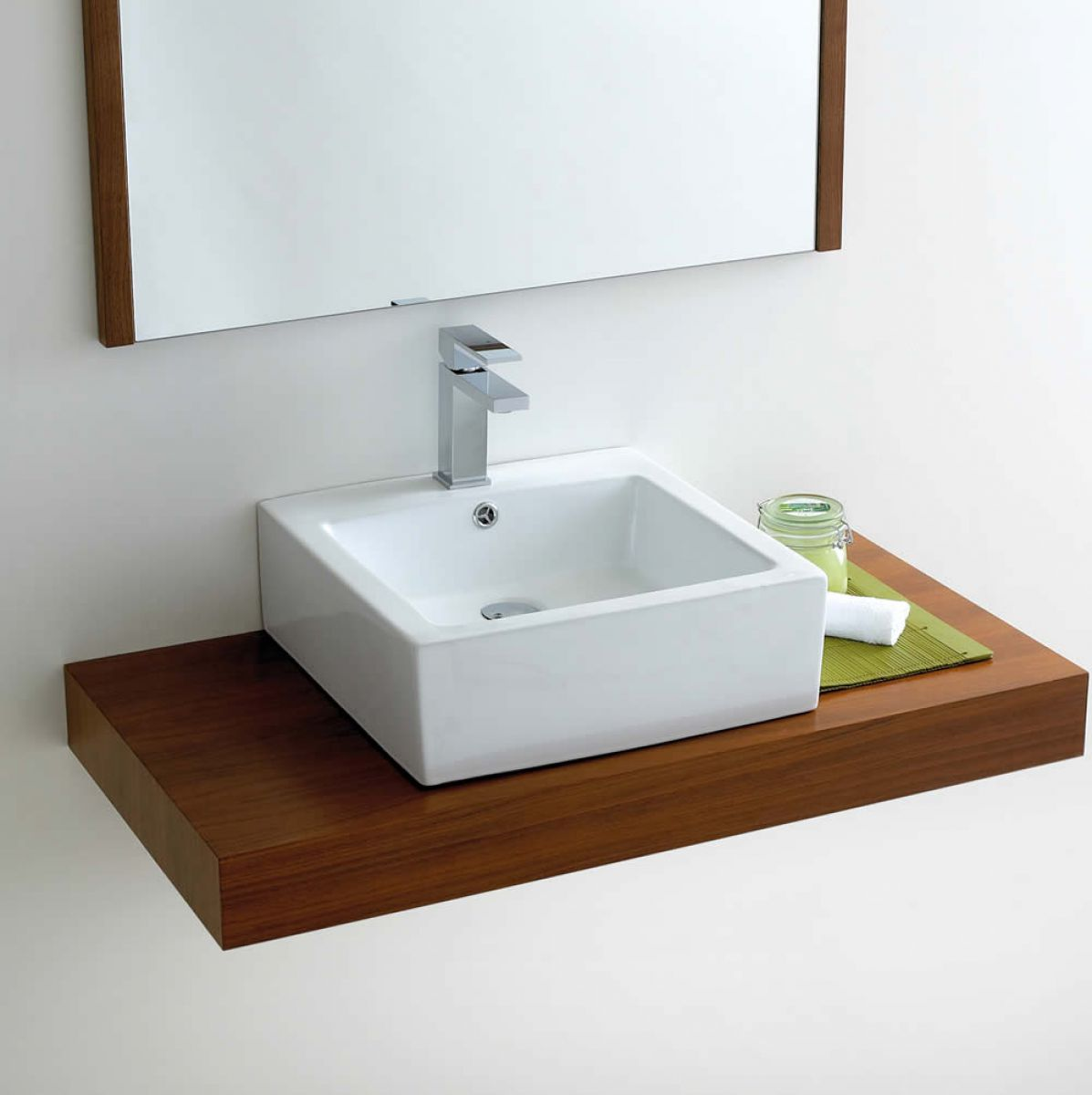 Phoenix deep square counter top bathroom basin vb039 uk for Bathroom wash basin with cabinet