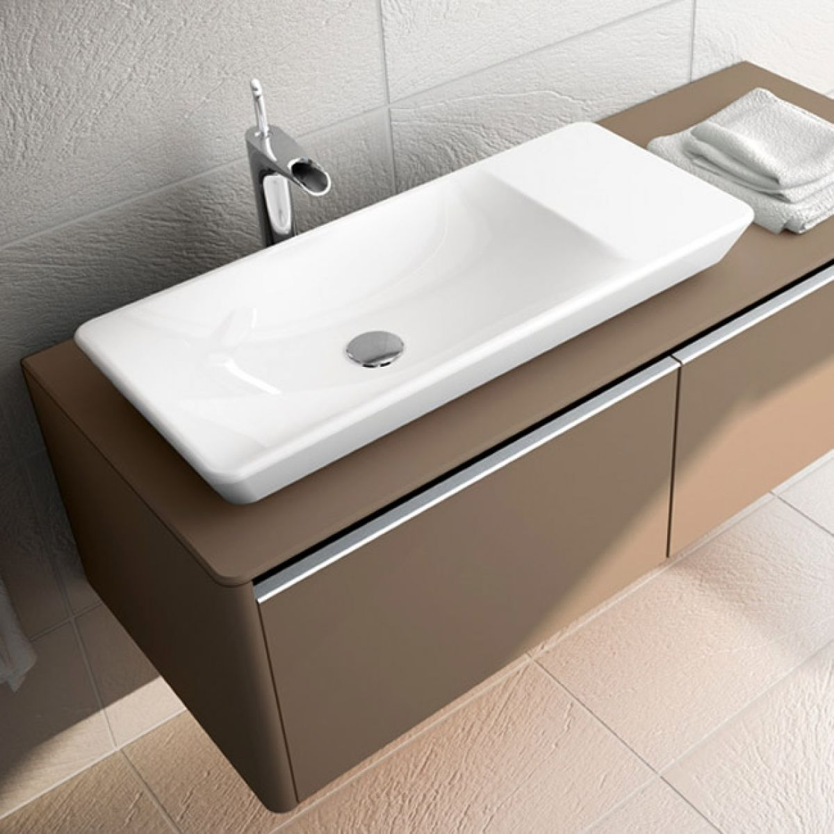 Vitra T4 Countertop Basin 800mm Uk Bathrooms