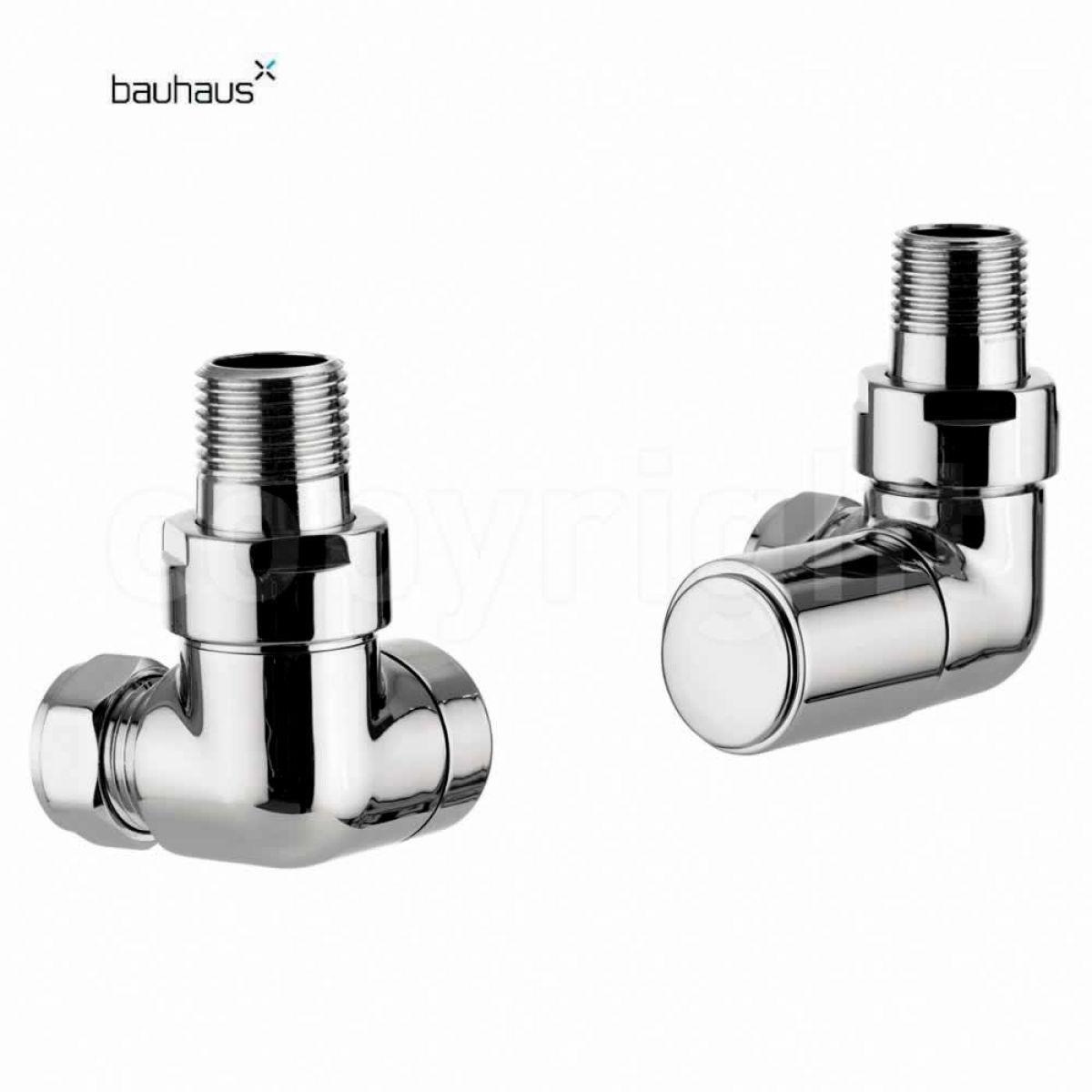 Bauhaus Round Corner Radiator Valve Set Uk Bathrooms
