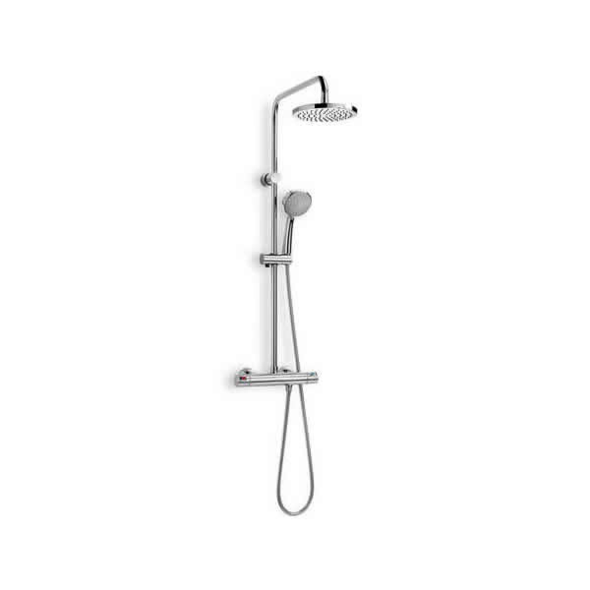 Roca Victoria-T Thermostatic Shower Column with 2 Heads : UK Bathrooms