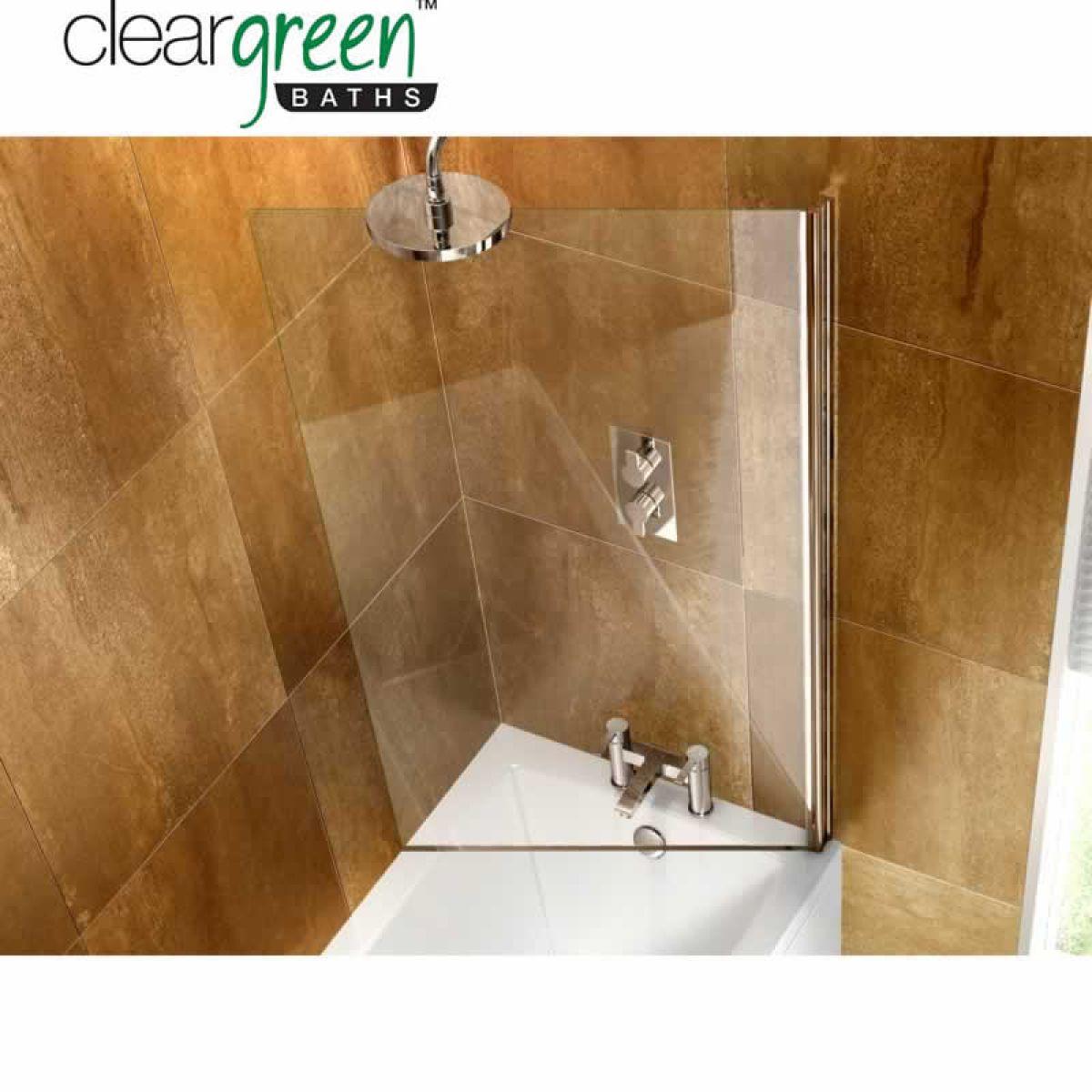 ClearGreen Hinged Bath Screen : UK Bathrooms